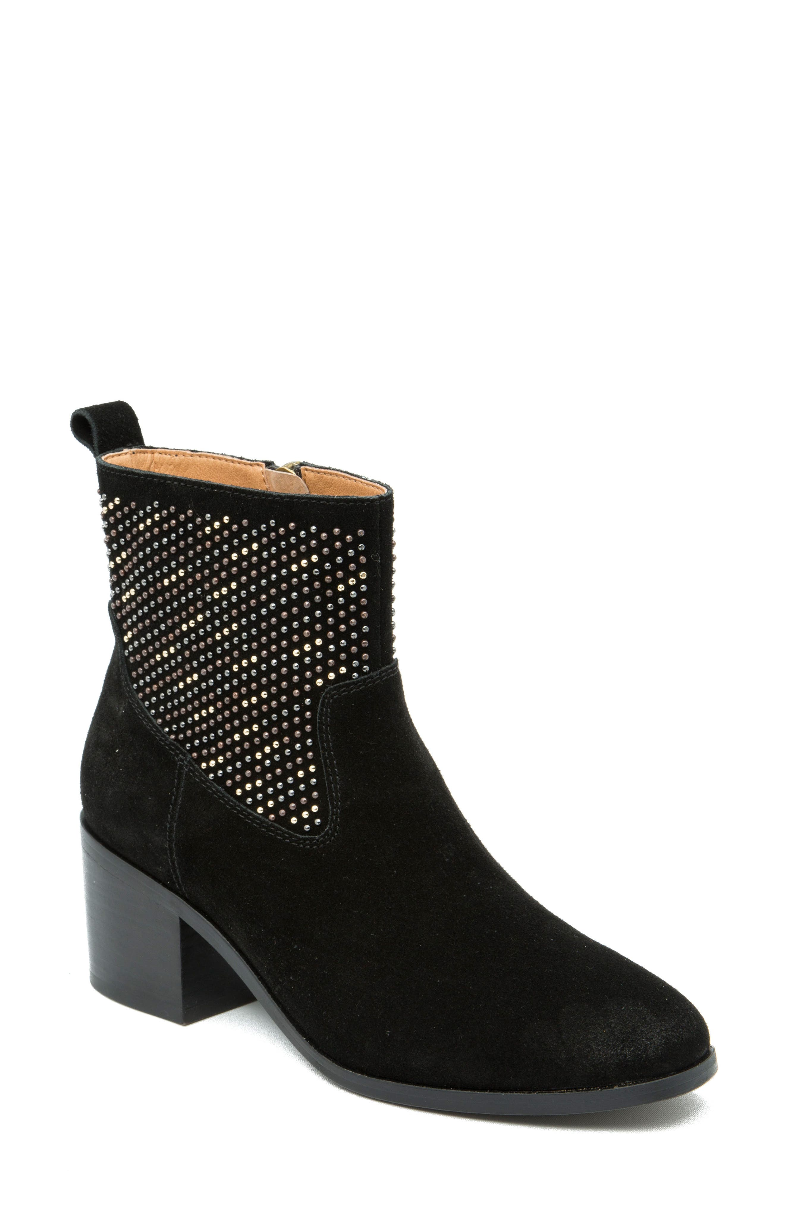 Dosa Studded Bootie,                             Main thumbnail 1, color,                             Black