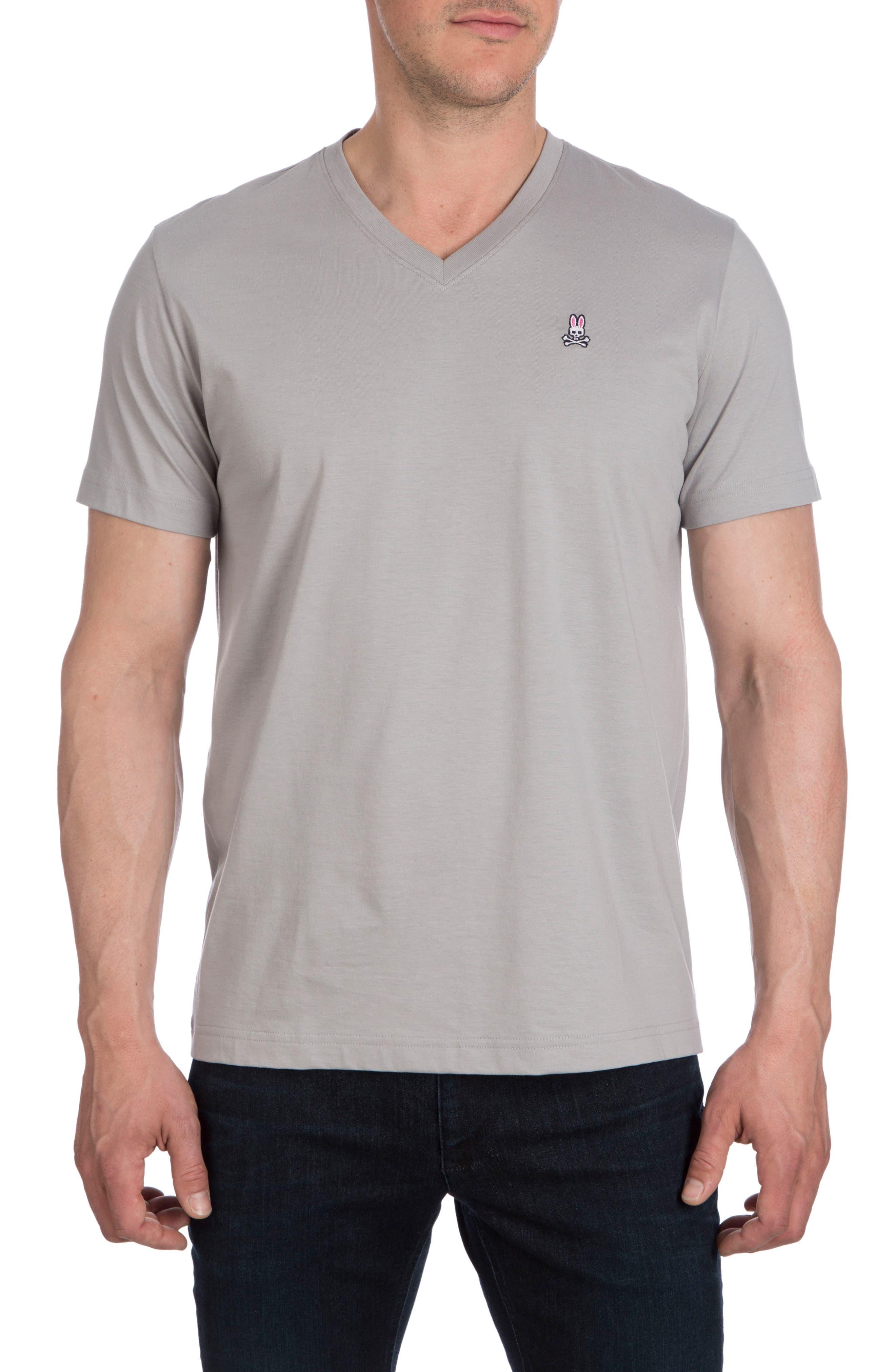 V-Neck T-Shirt,                             Main thumbnail 1, color,                             Alloy