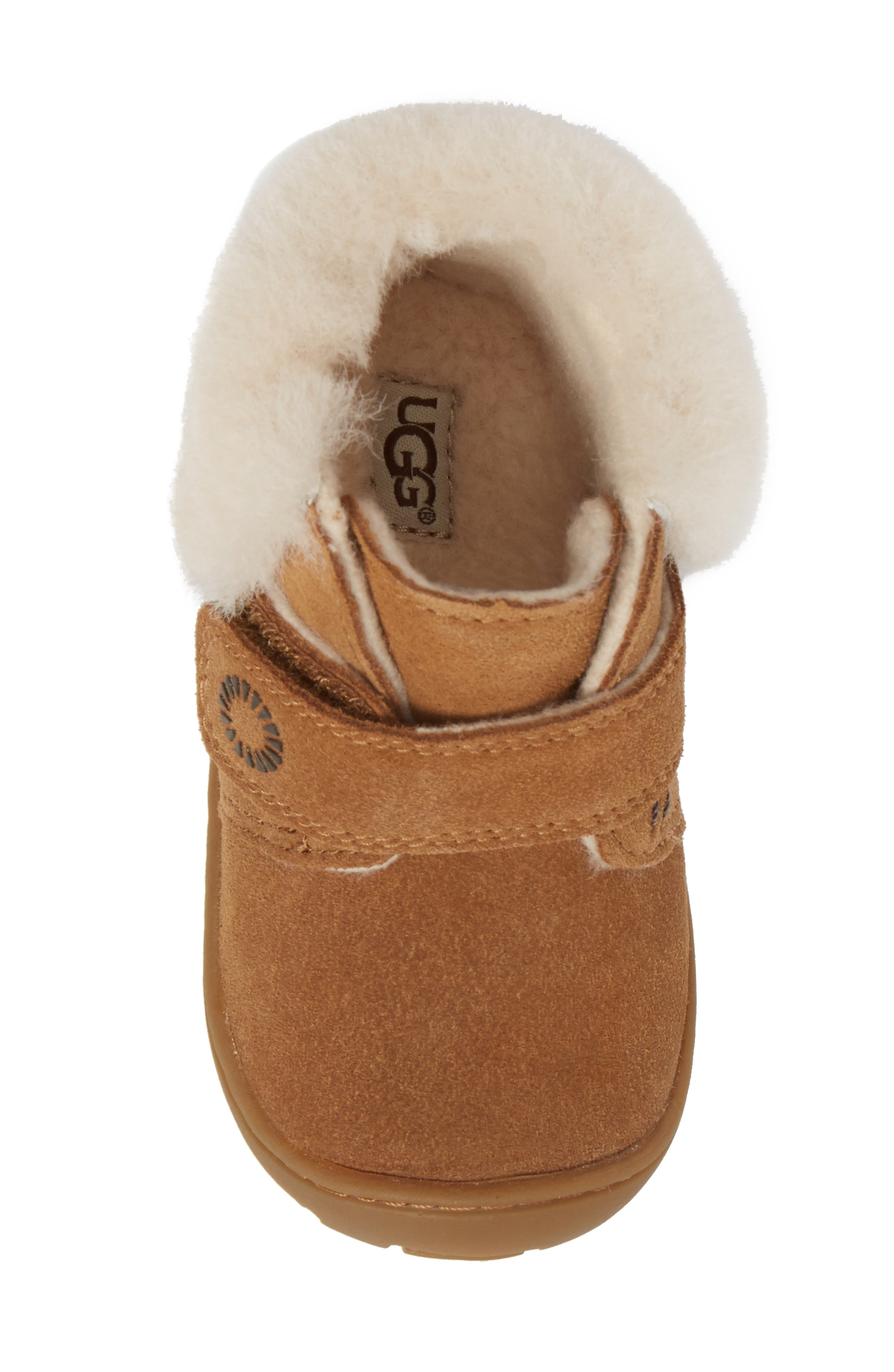 Alternate Image 5  - UGG® Jorgen Genuine Shearling Bootie (Baby, Walker & Toddler)