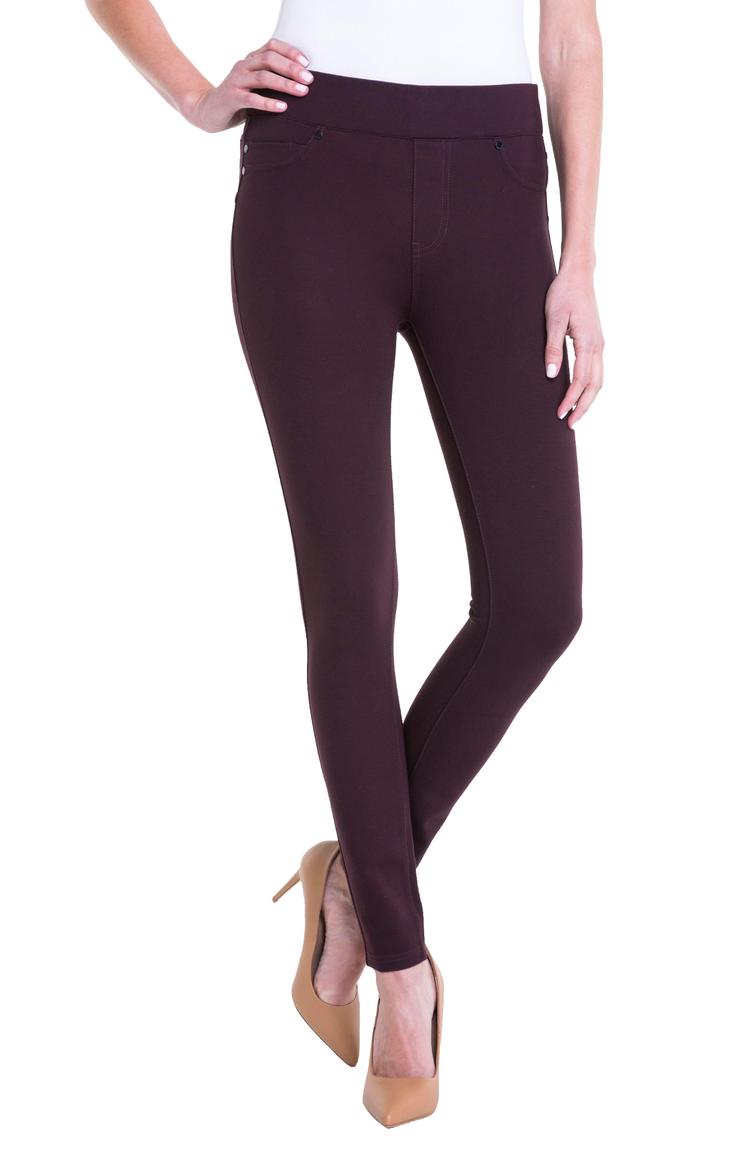 Alternate Image 3  - Liverpool Jeans Company Piper Hugger Leggings (Aubergine)