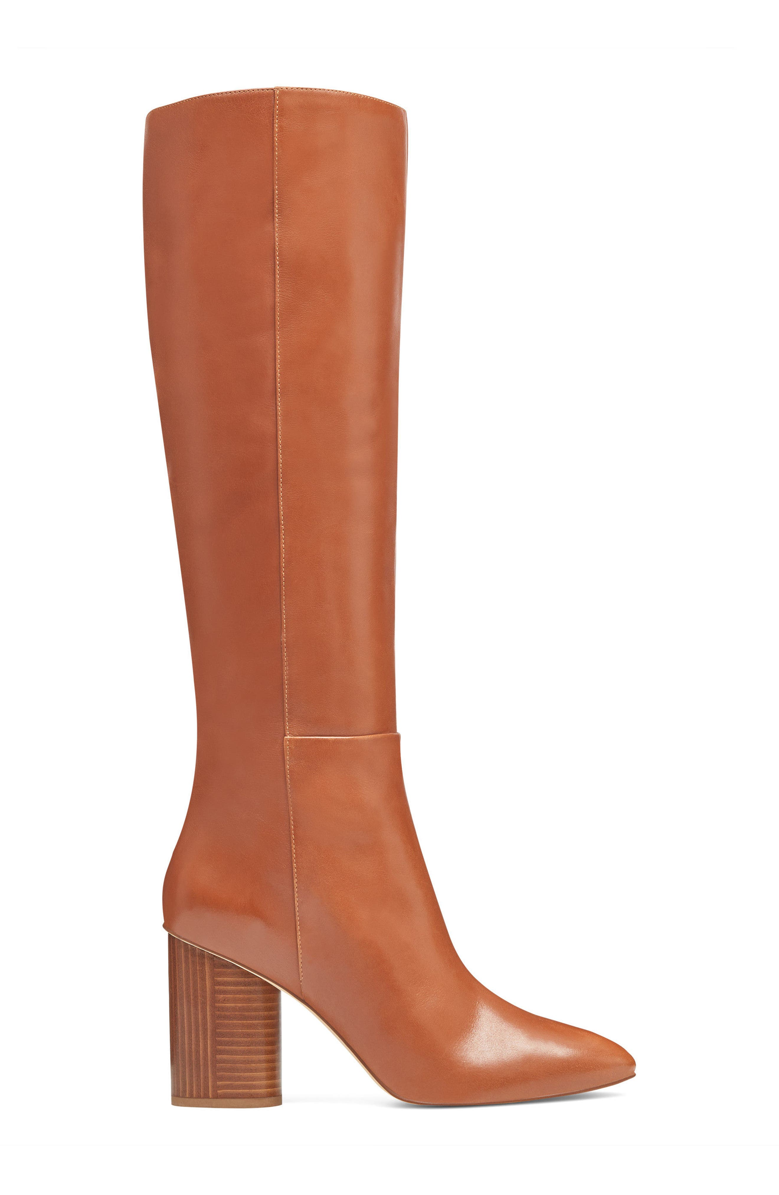 Christie Knee High Boot,                             Alternate thumbnail 3, color,                             Dark Natural Leather