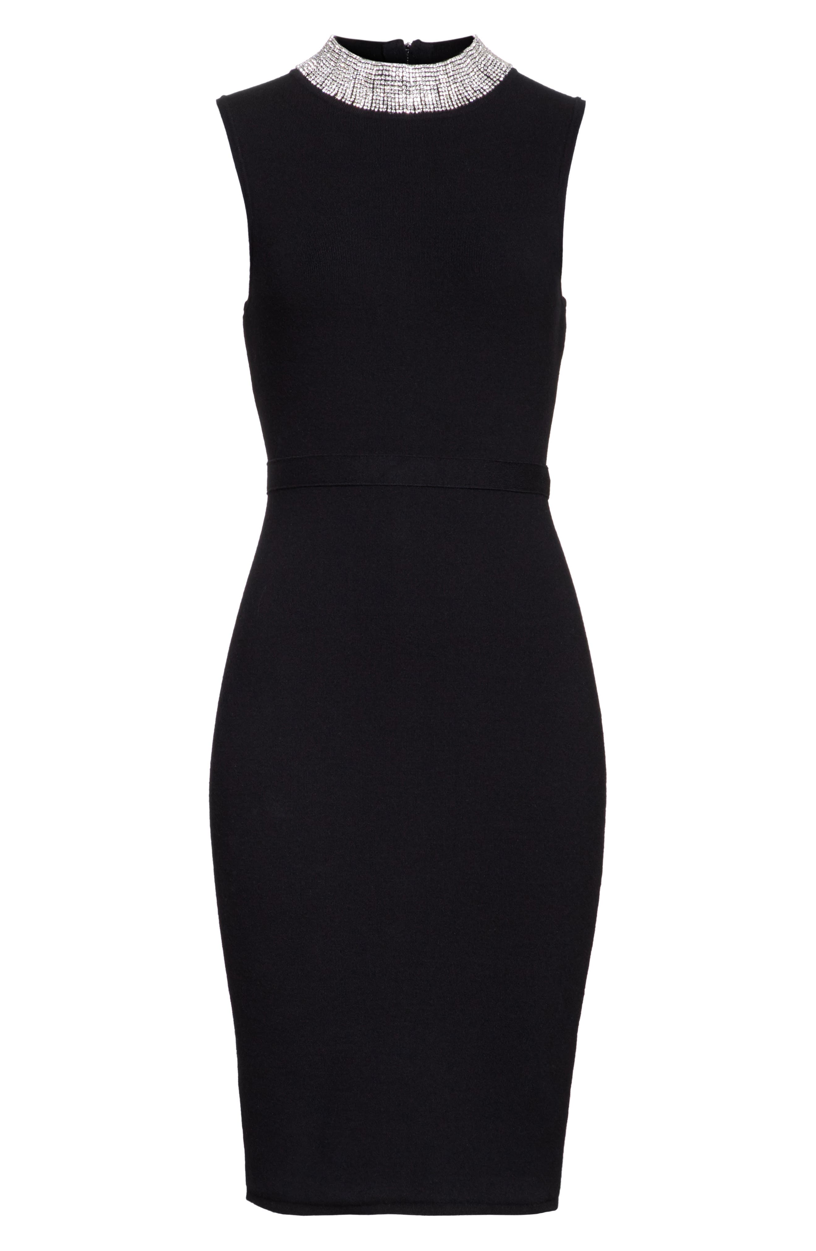 Alternate Image 6  - Milly Jewel Collar Sheath Dress