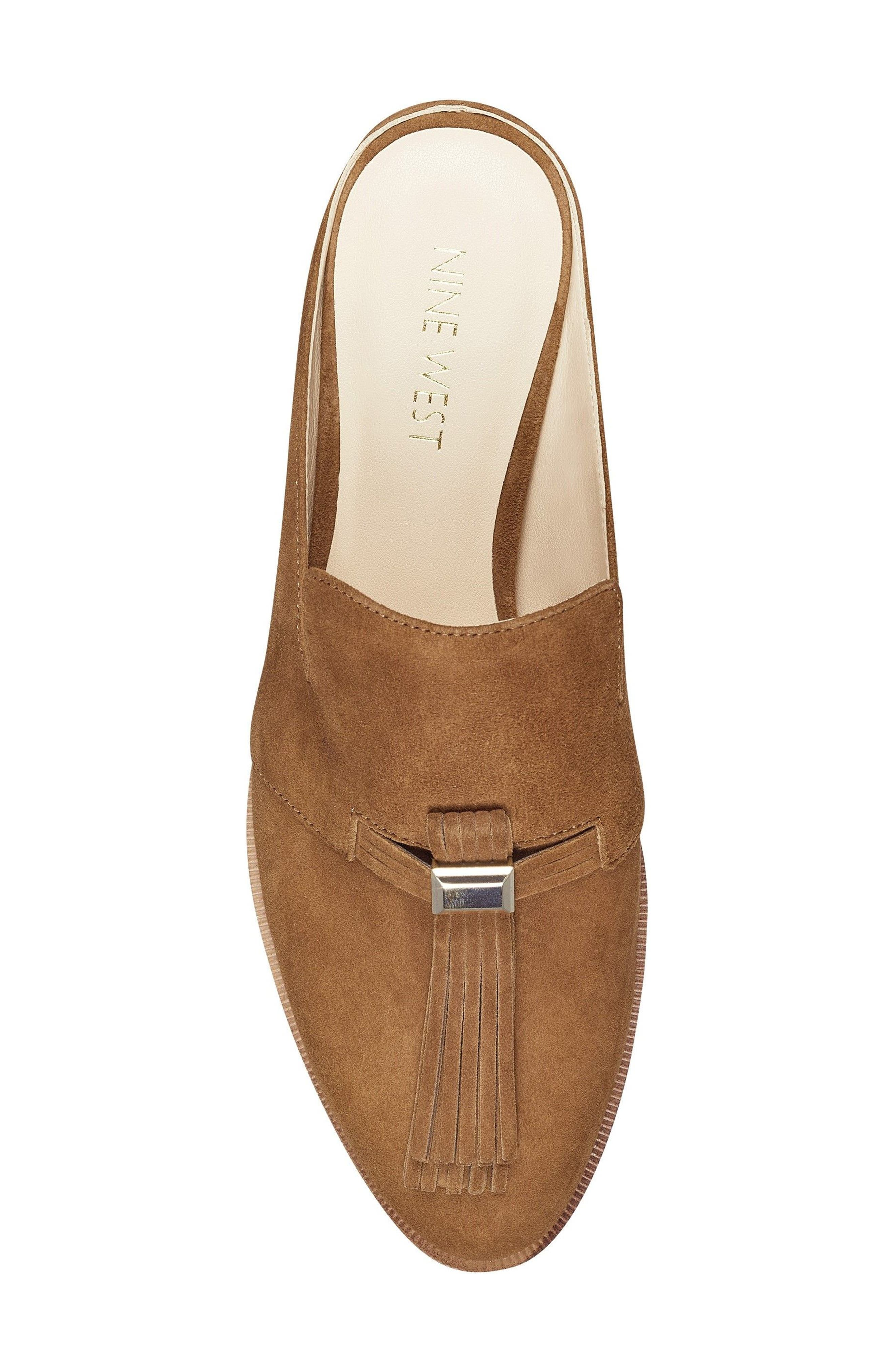 Huebart Loafer Mule,                             Alternate thumbnail 5, color,                             Brown Suede