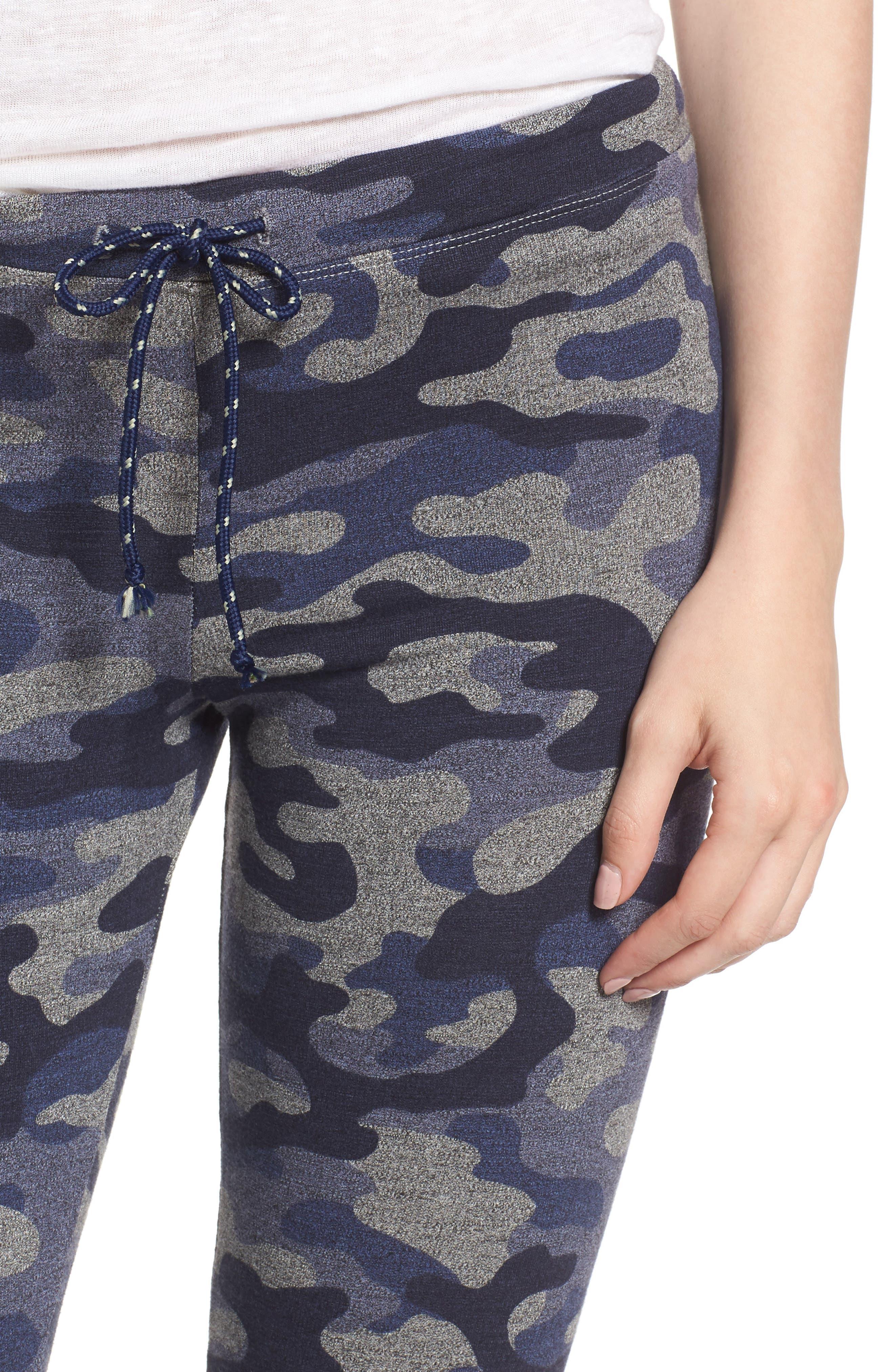 Alternate Image 4  - Sundry Camo Skinny Sweatpants