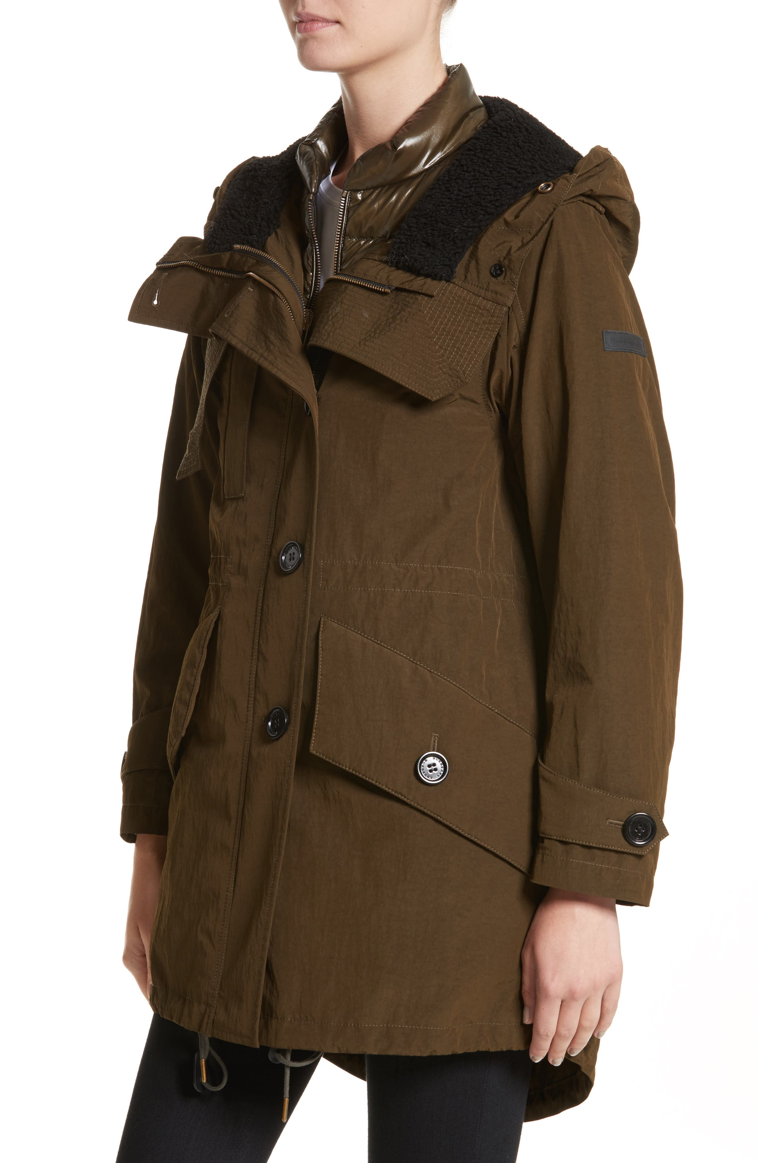 Ramsford 3-in-1 Hooded Parka with Genuine Fox Fur & Genuine Shearling Trim,                             Alternate thumbnail 5, color,                             Dark Olive