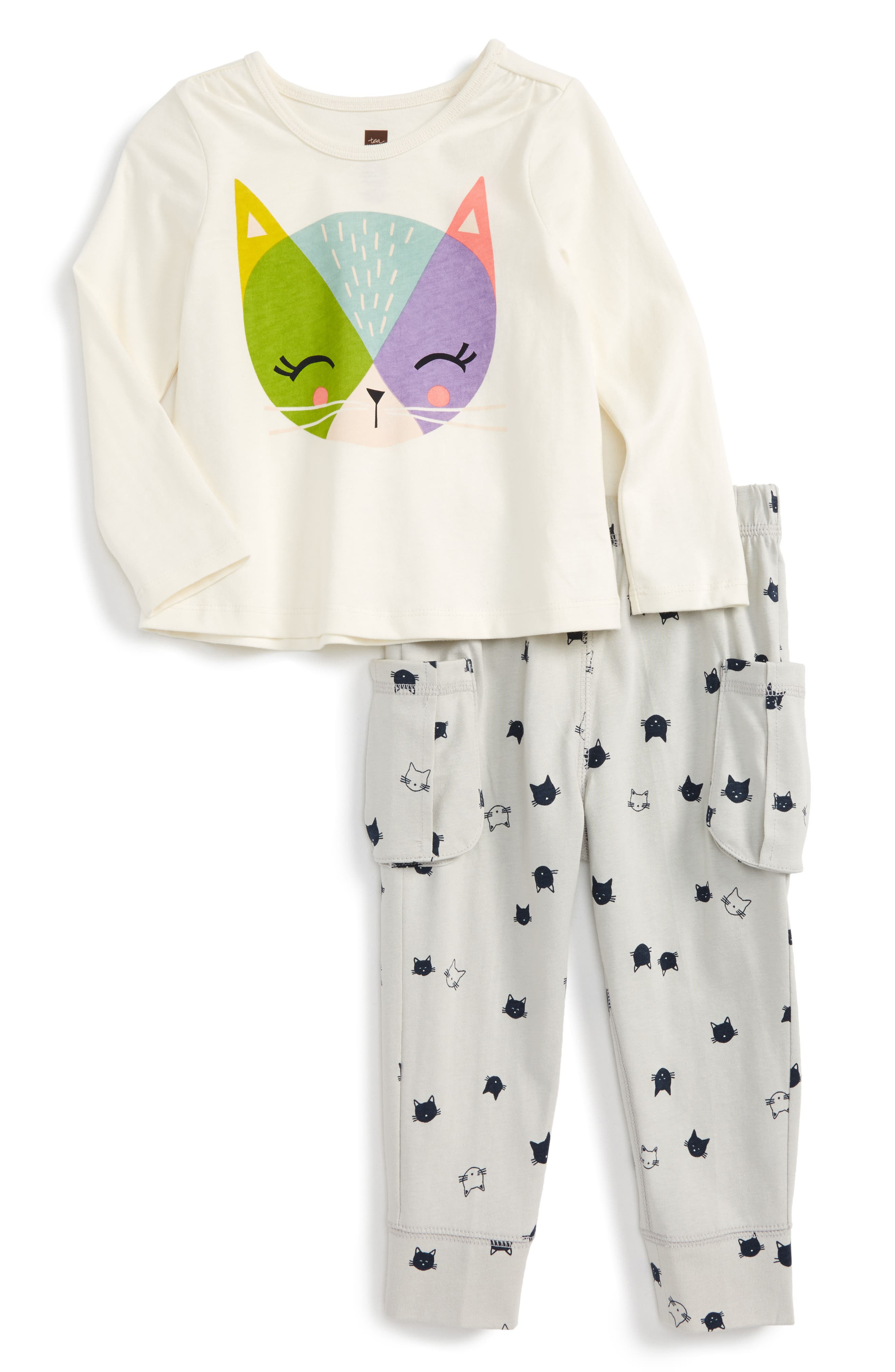 Hamish McHamish Graphic Top & Sweatpants,                             Main thumbnail 1, color,                             Chalk