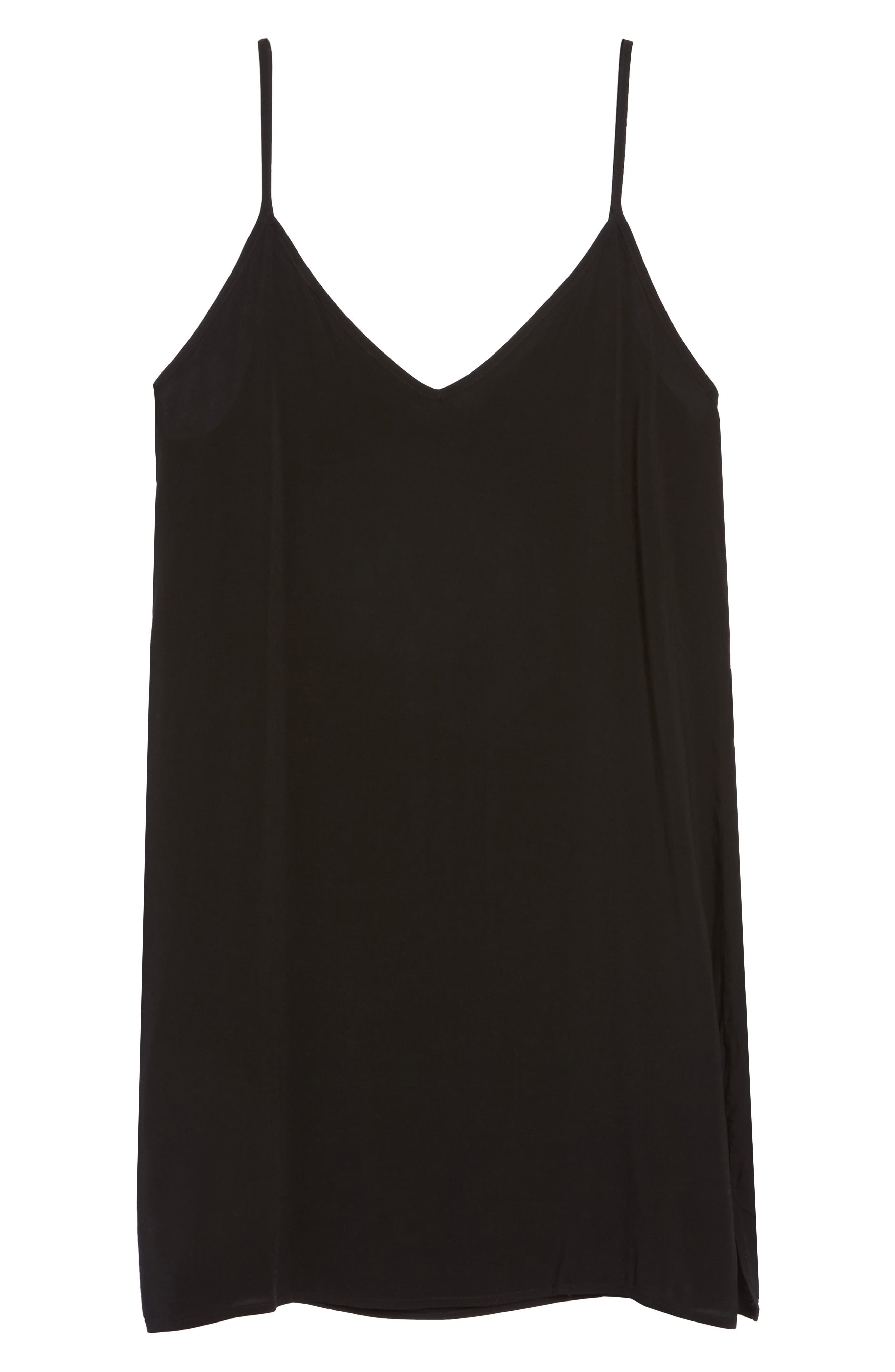 V-Neck Chemise,                             Alternate thumbnail 4, color,                             Tar