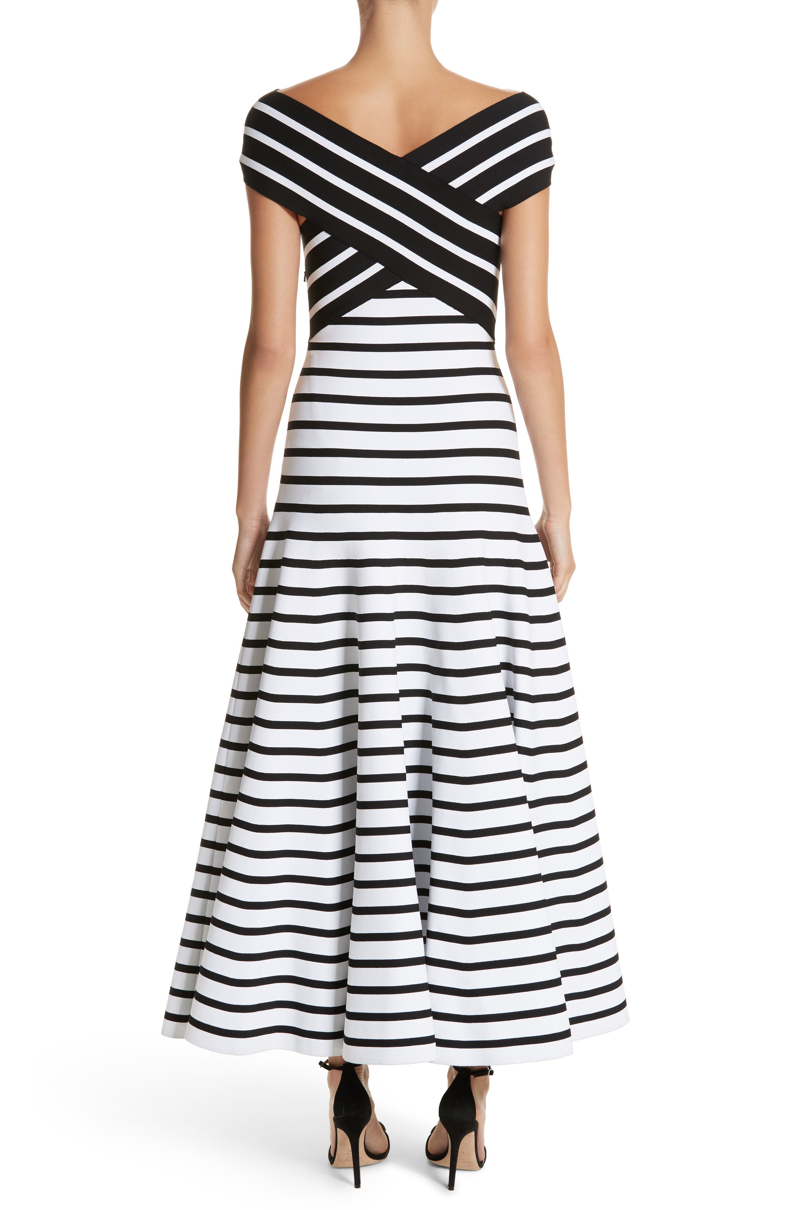 Alternate Image 2  - Carolina Herrera Stripe Off the Shoulder Maxi Dress