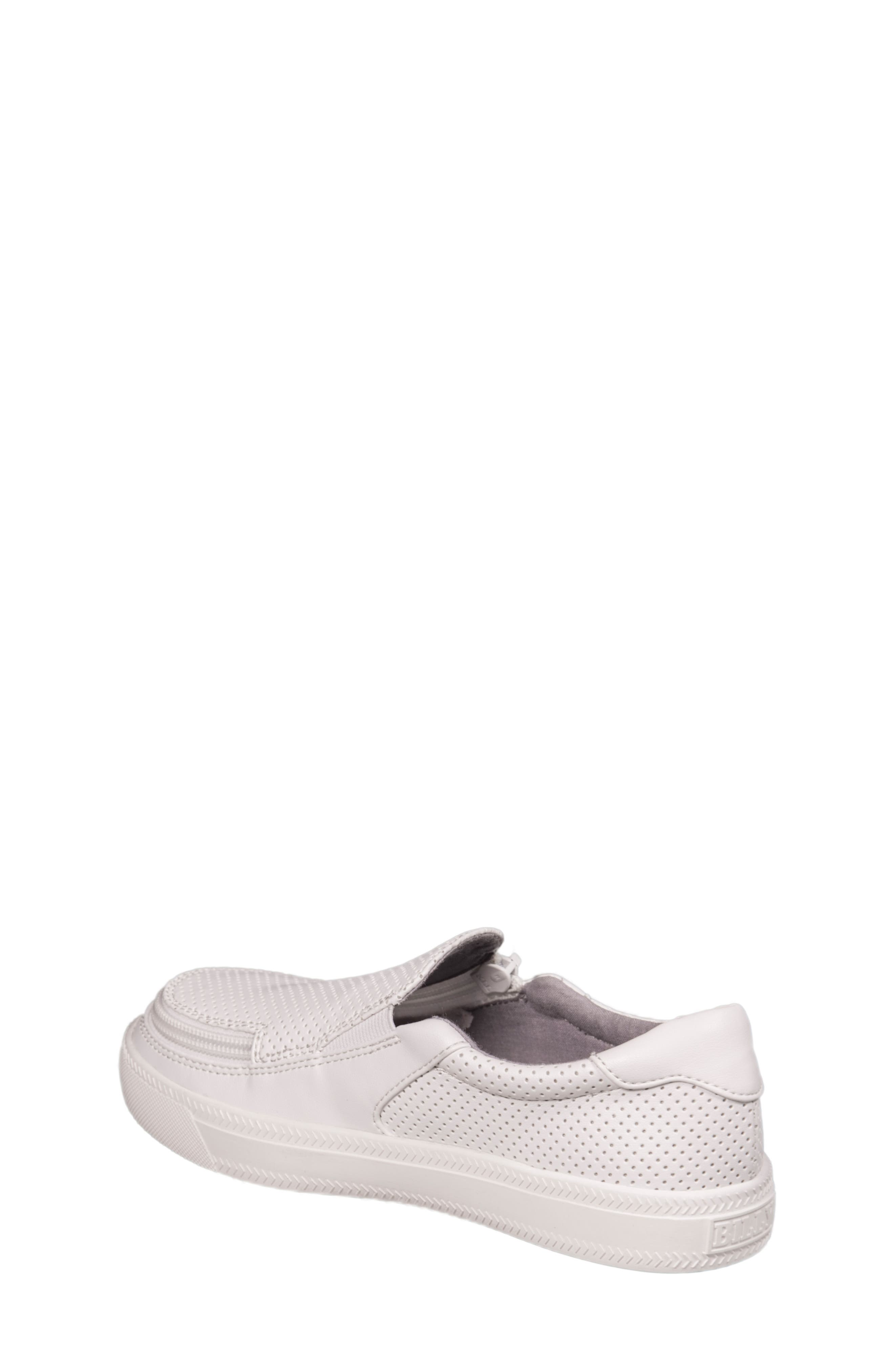 Zip Around Perforated Low Top Sneaker,                             Alternate thumbnail 2, color,                             White Perforated
