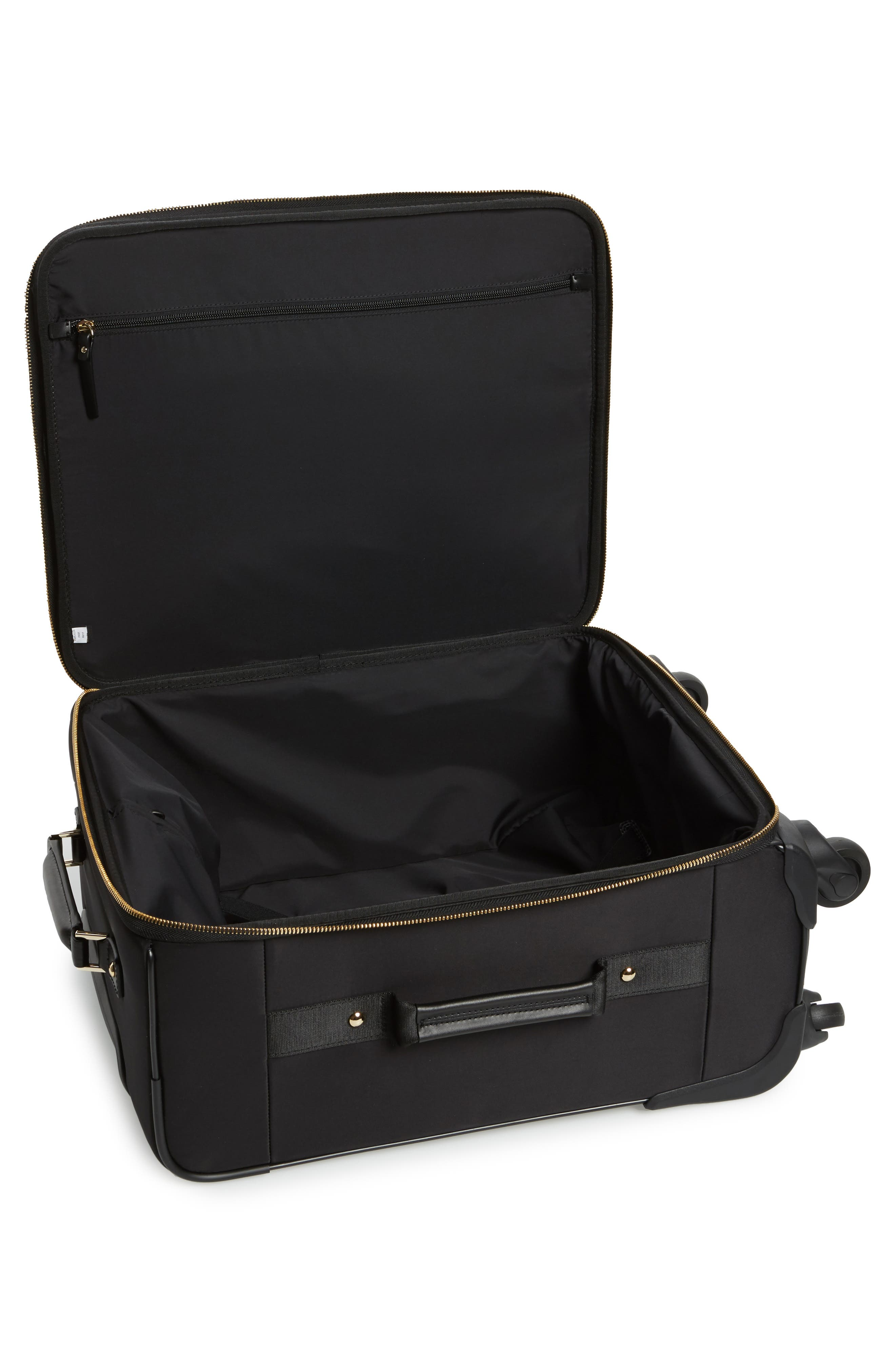 watson lane nylon international 21-inch rolling carry-on,                             Alternate thumbnail 2, color,                             Black