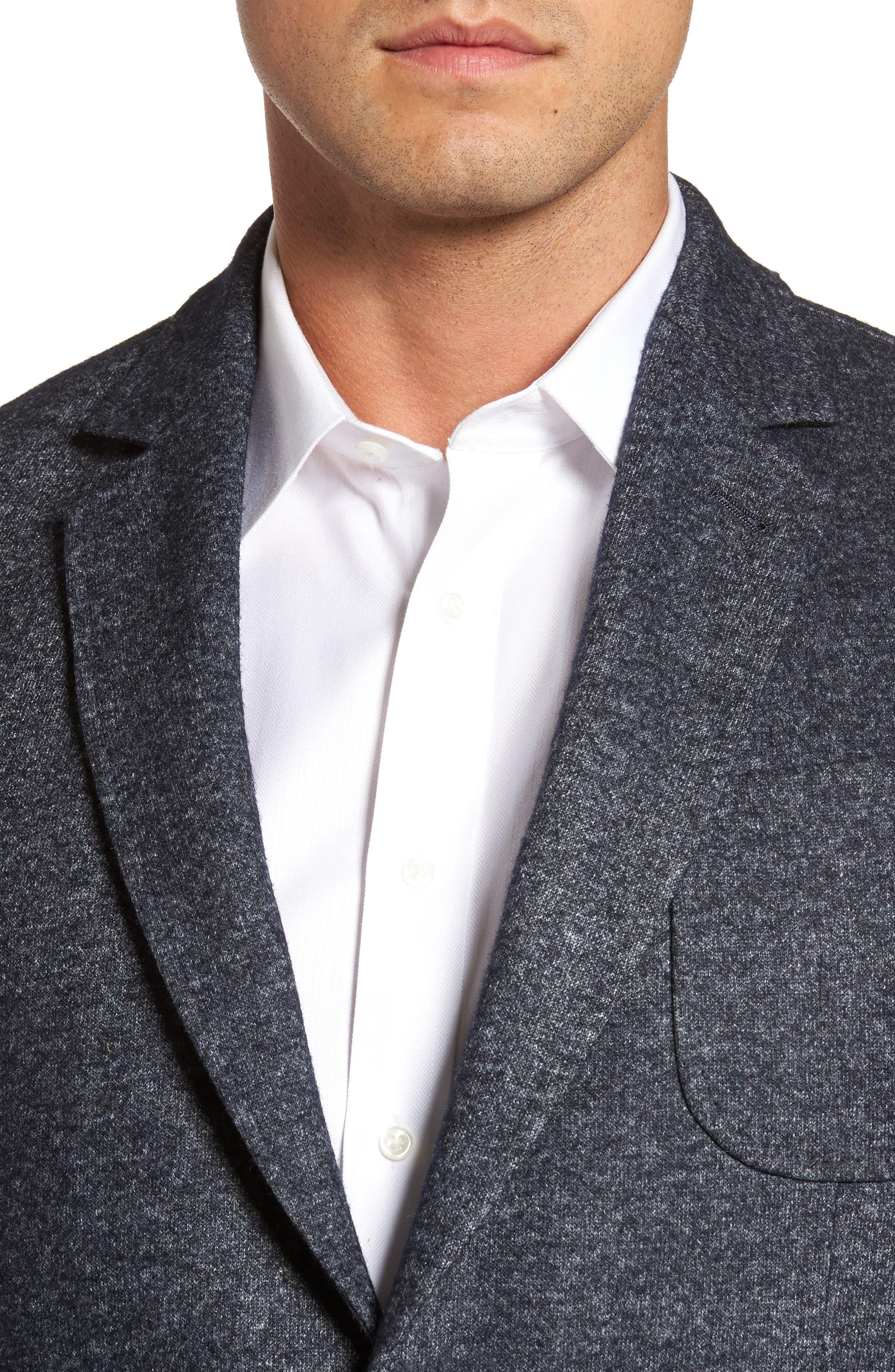 Alternate Image 4  - FLYNT Classic Fit Suede Trim Jersey Sport Coat