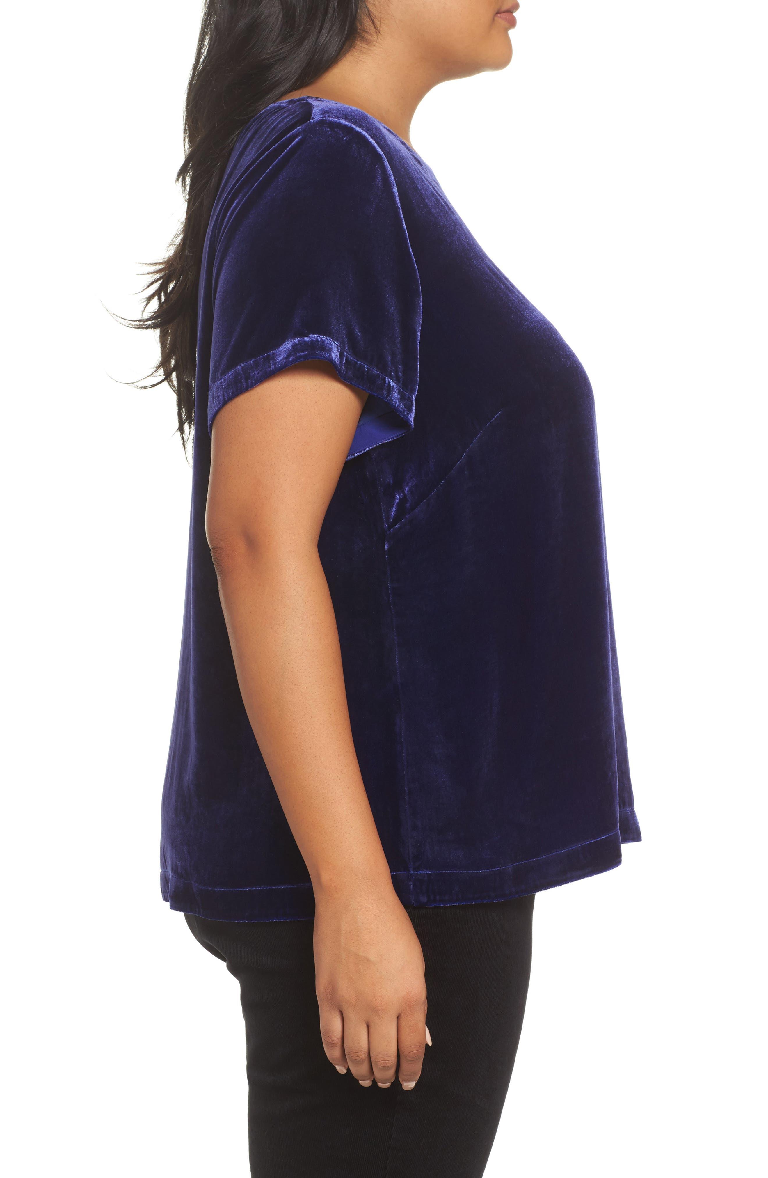 Alternate Image 3  - Eileen Fisher Velvet Top (Plus Size)