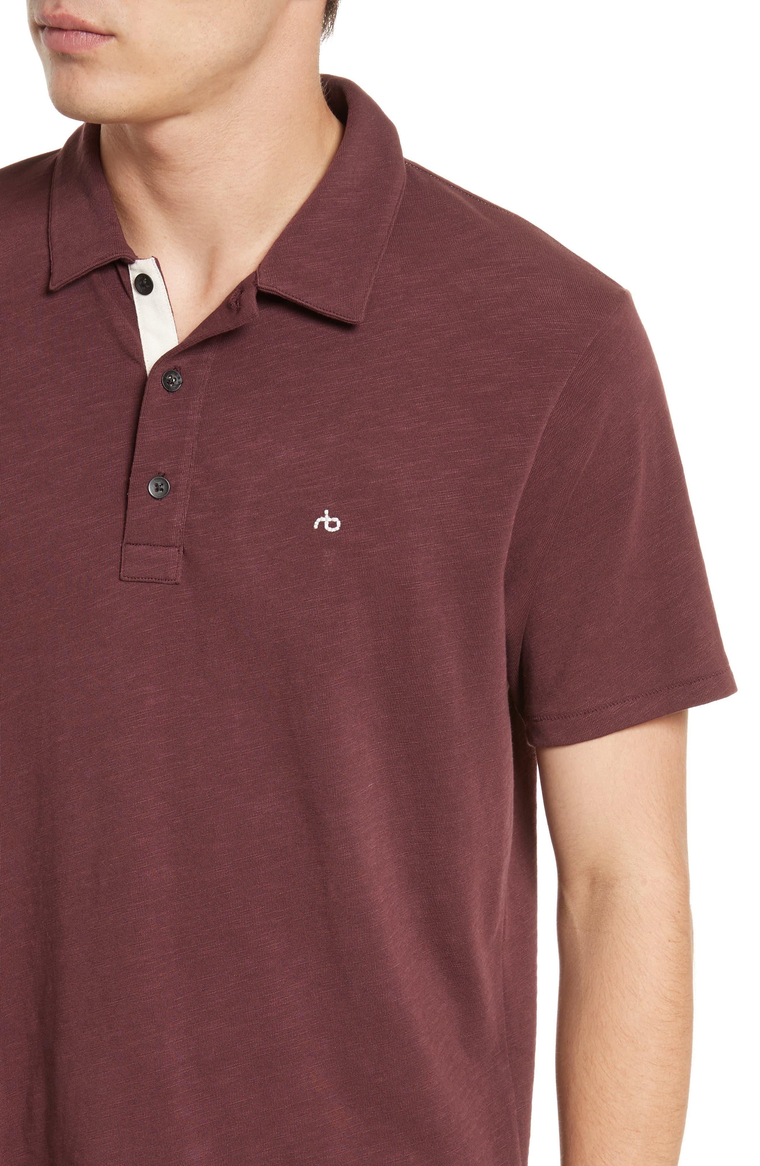 Alternate Image 4  - rag & bone Standard Issue Slub Jersey Polo