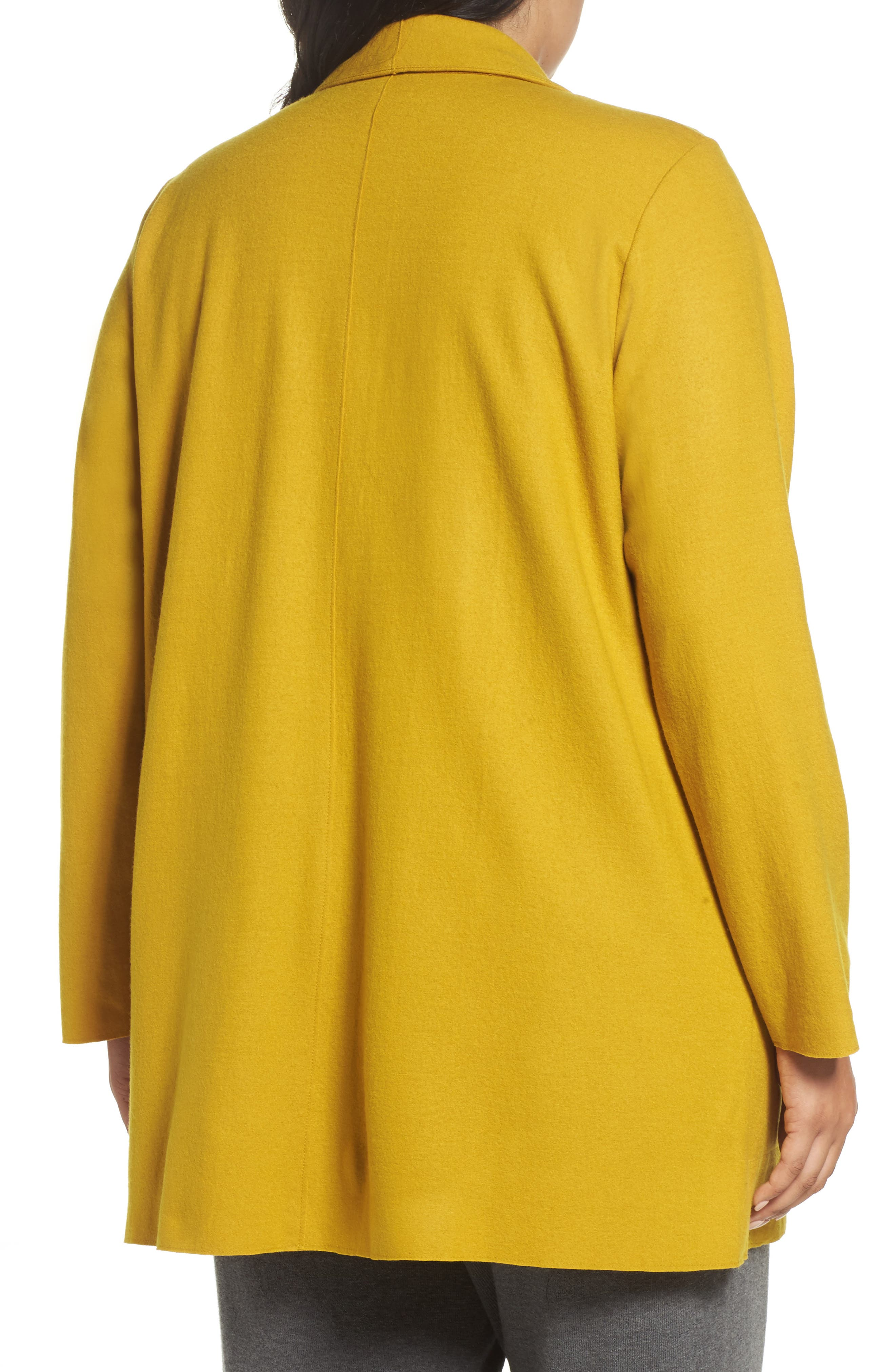 Alternate Image 2  - Eileen Fisher Boiled Wool Jacket (Plus Size)