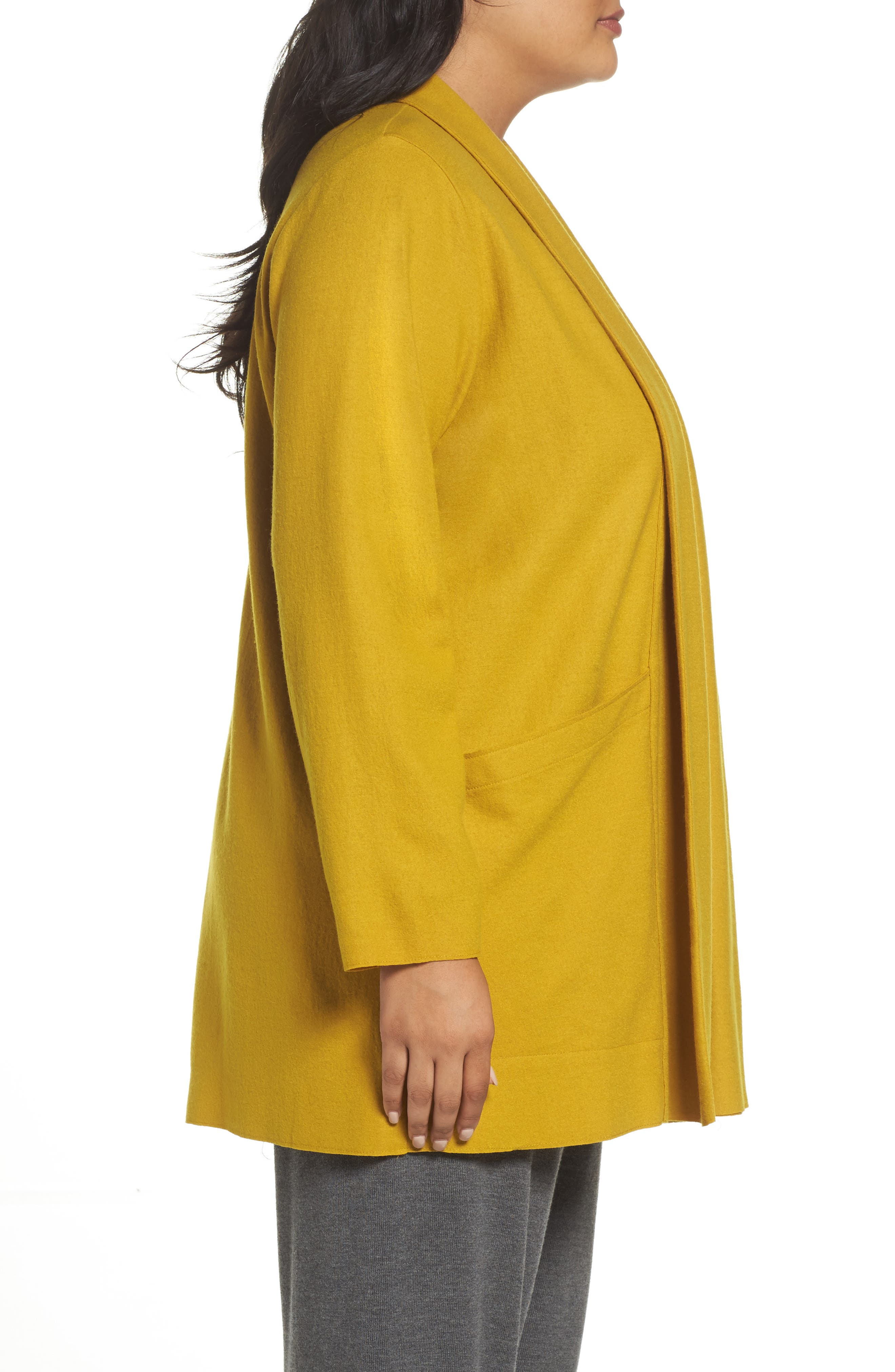 Alternate Image 3  - Eileen Fisher Boiled Wool Jacket (Plus Size)