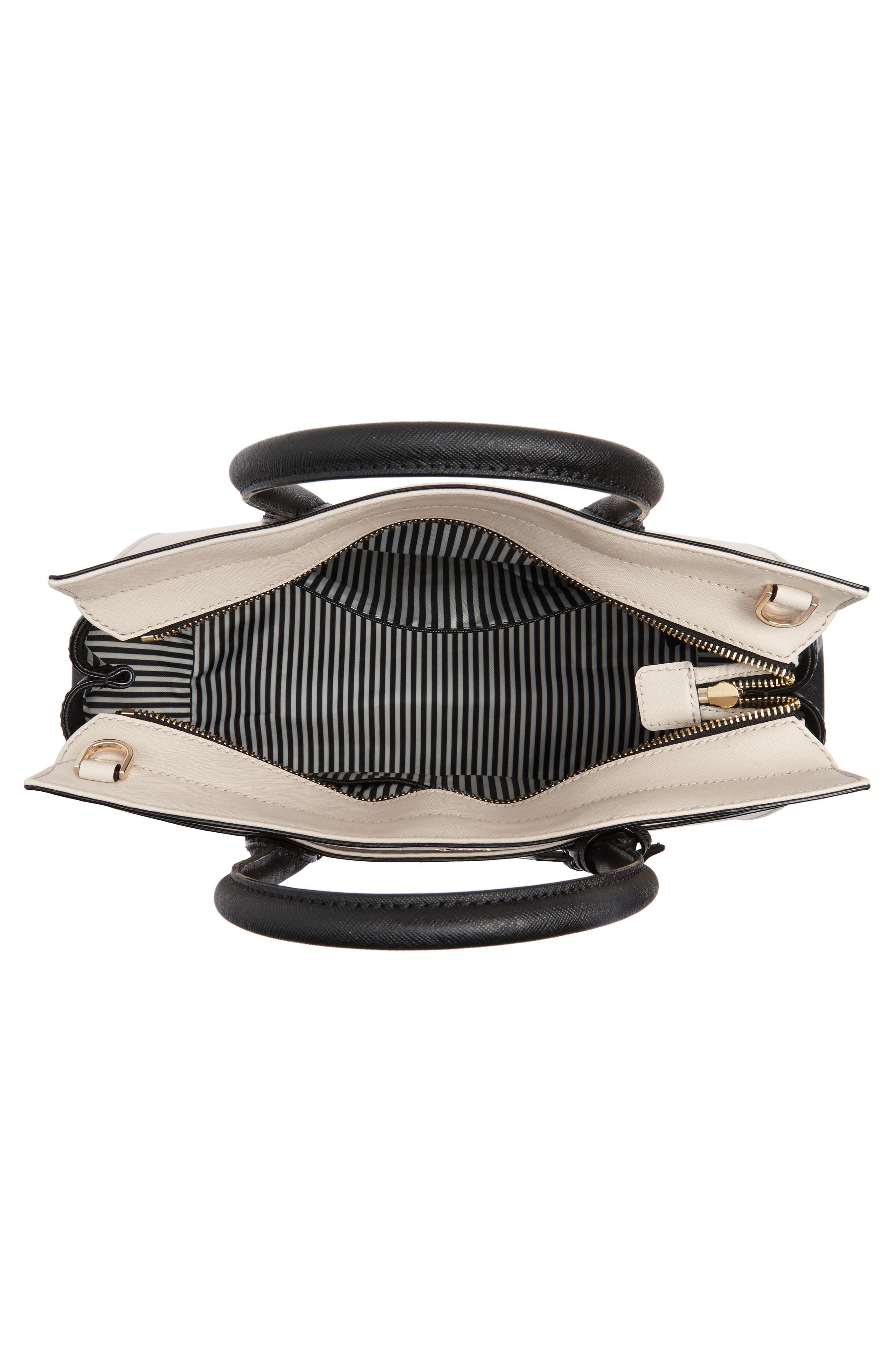 cameron street - candace leather satchel,                             Alternate thumbnail 4, color,                             Tusk/ Black