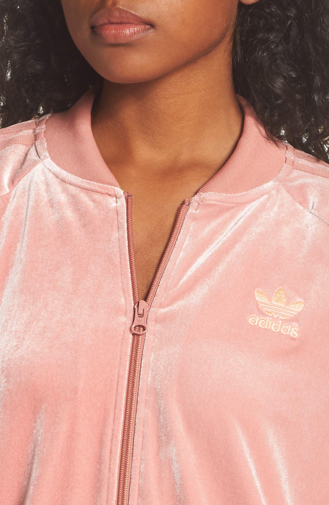 Alternate Image 4  - adidas originals Velvet Zip Sweatshirt