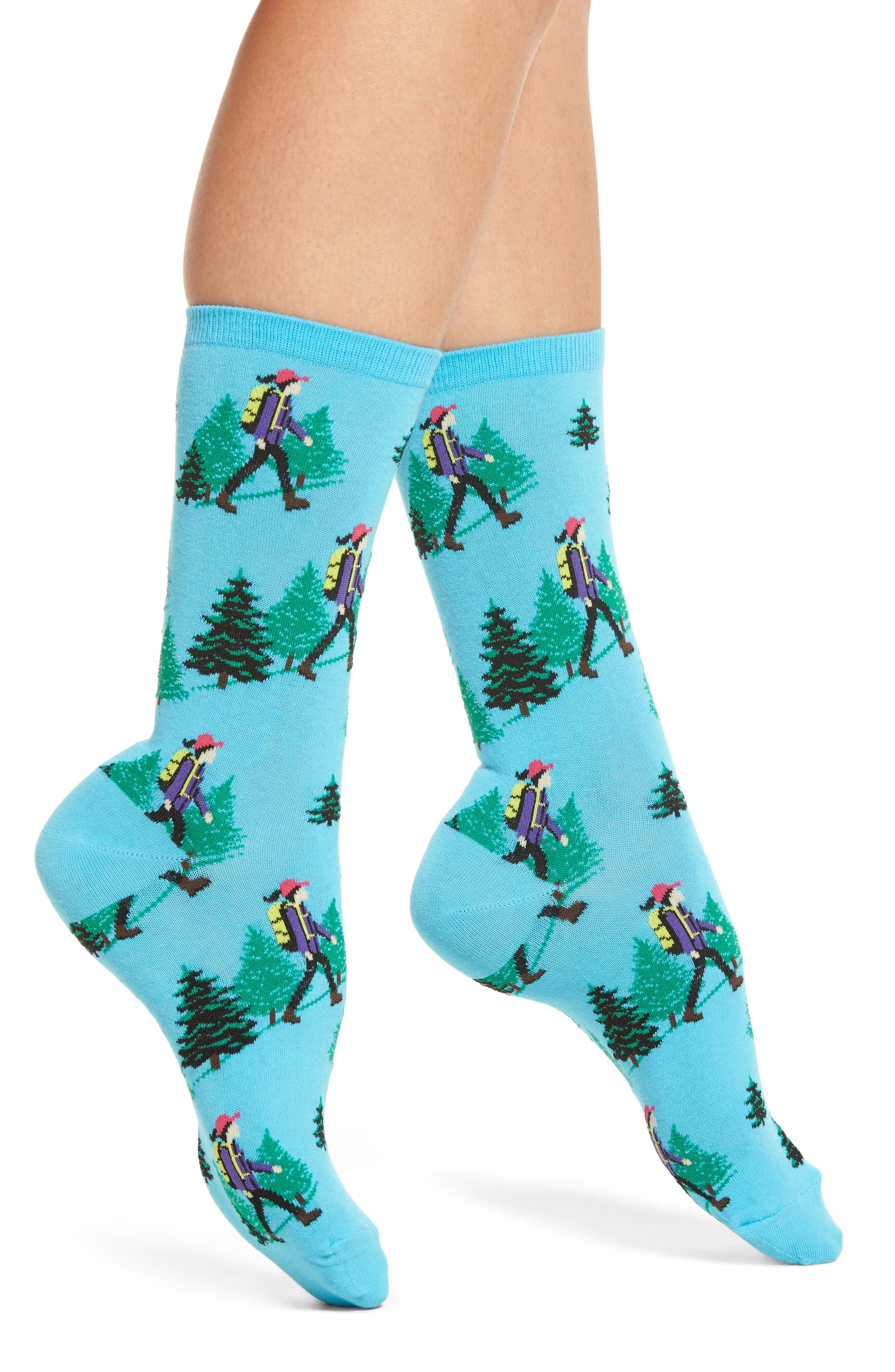 Hiker Socks,                             Main thumbnail 1, color,                             Light Blue