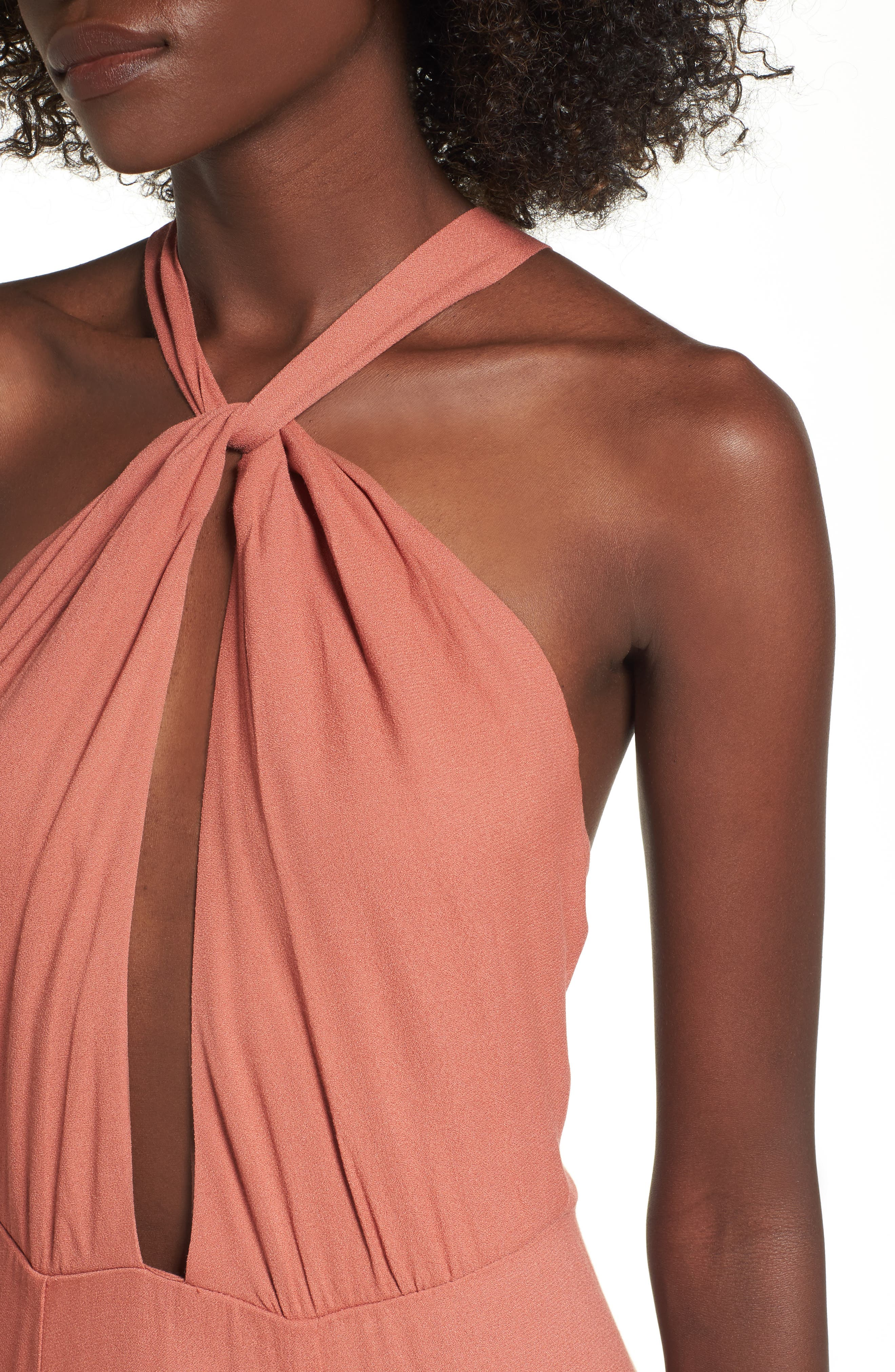 Alternate Image 4  - AFRM Harlean Halter Maxi Dress