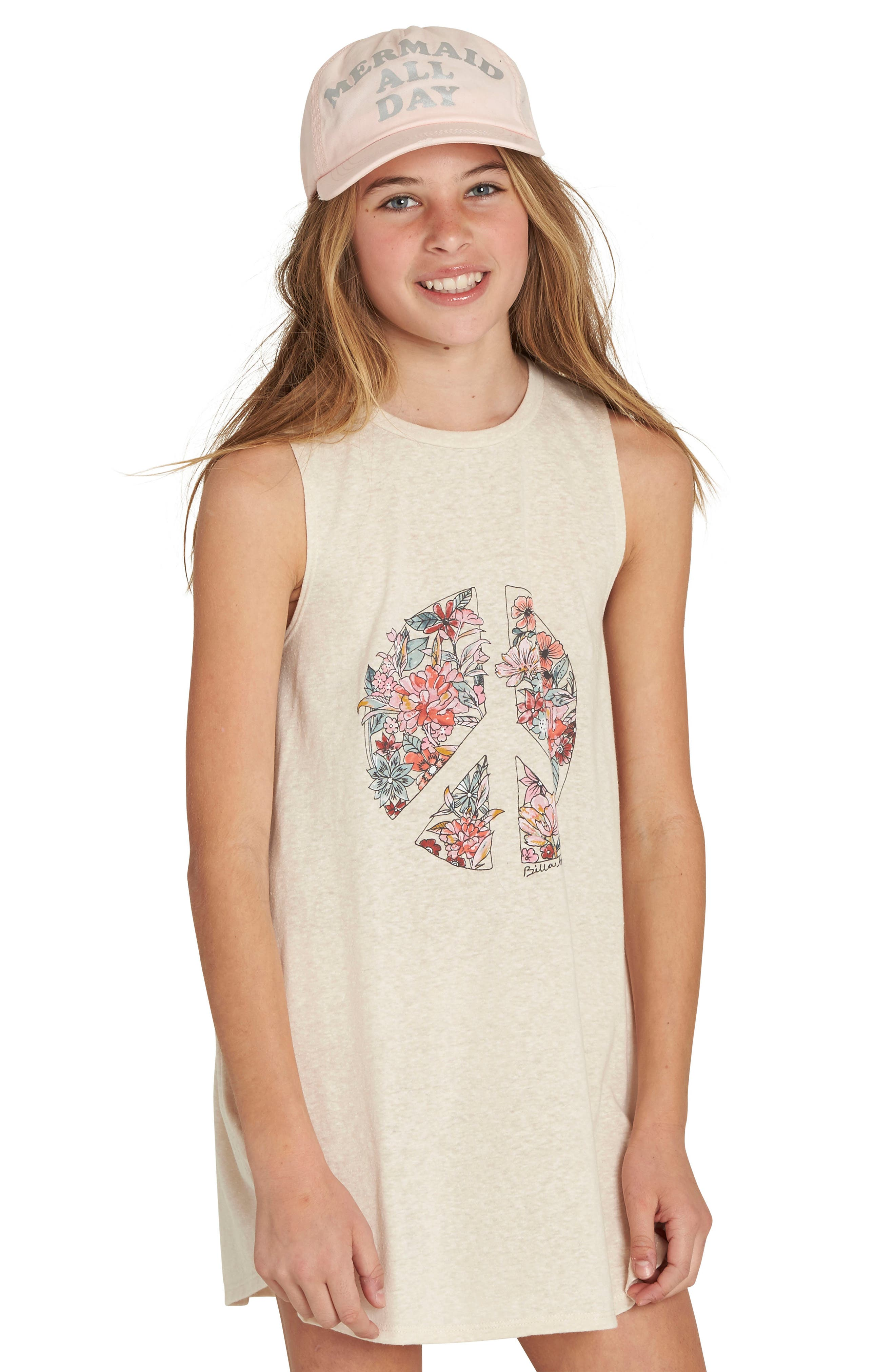 Billabong Peace Out Graphic Print Tee (Little Girls & Big Girls)