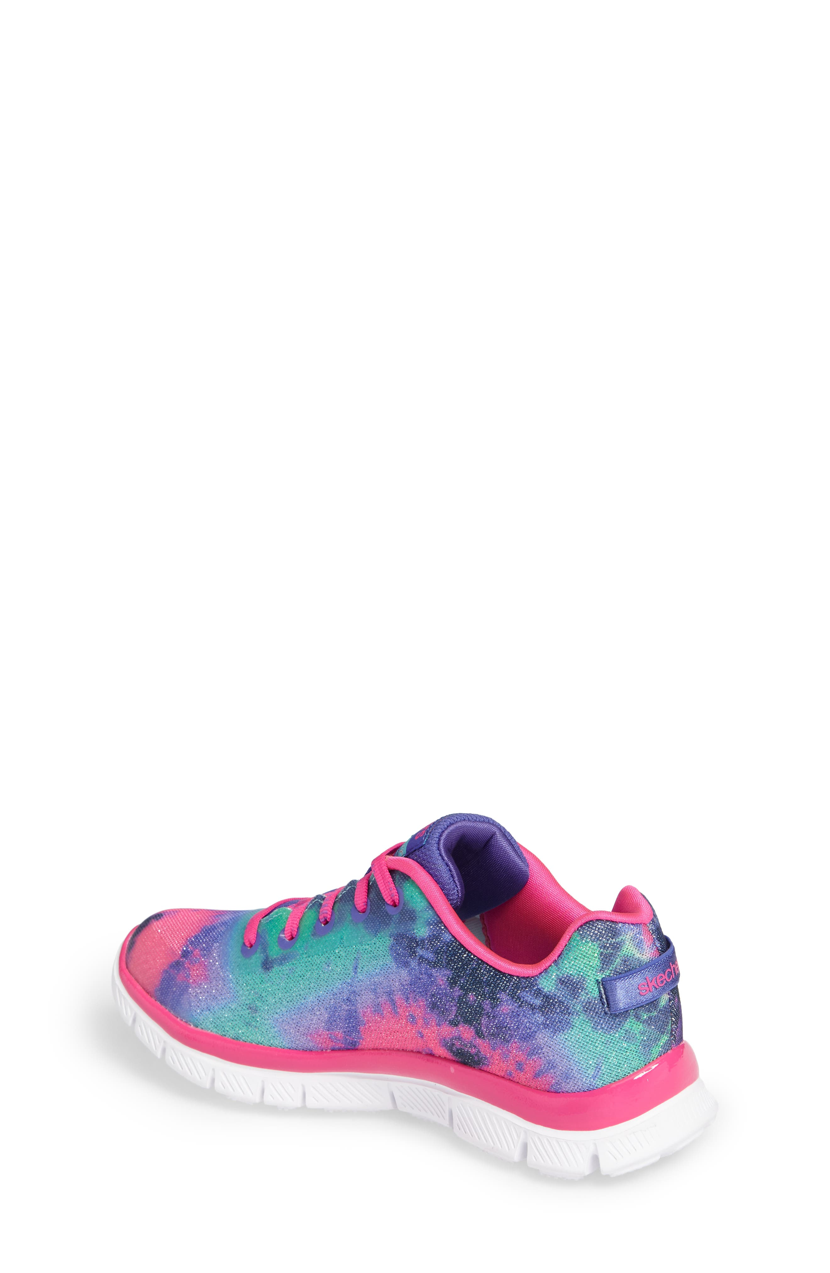 Skech Appeal Groove Thang Sneaker,                             Alternate thumbnail 2, color,                             Neon Pink/ Multi