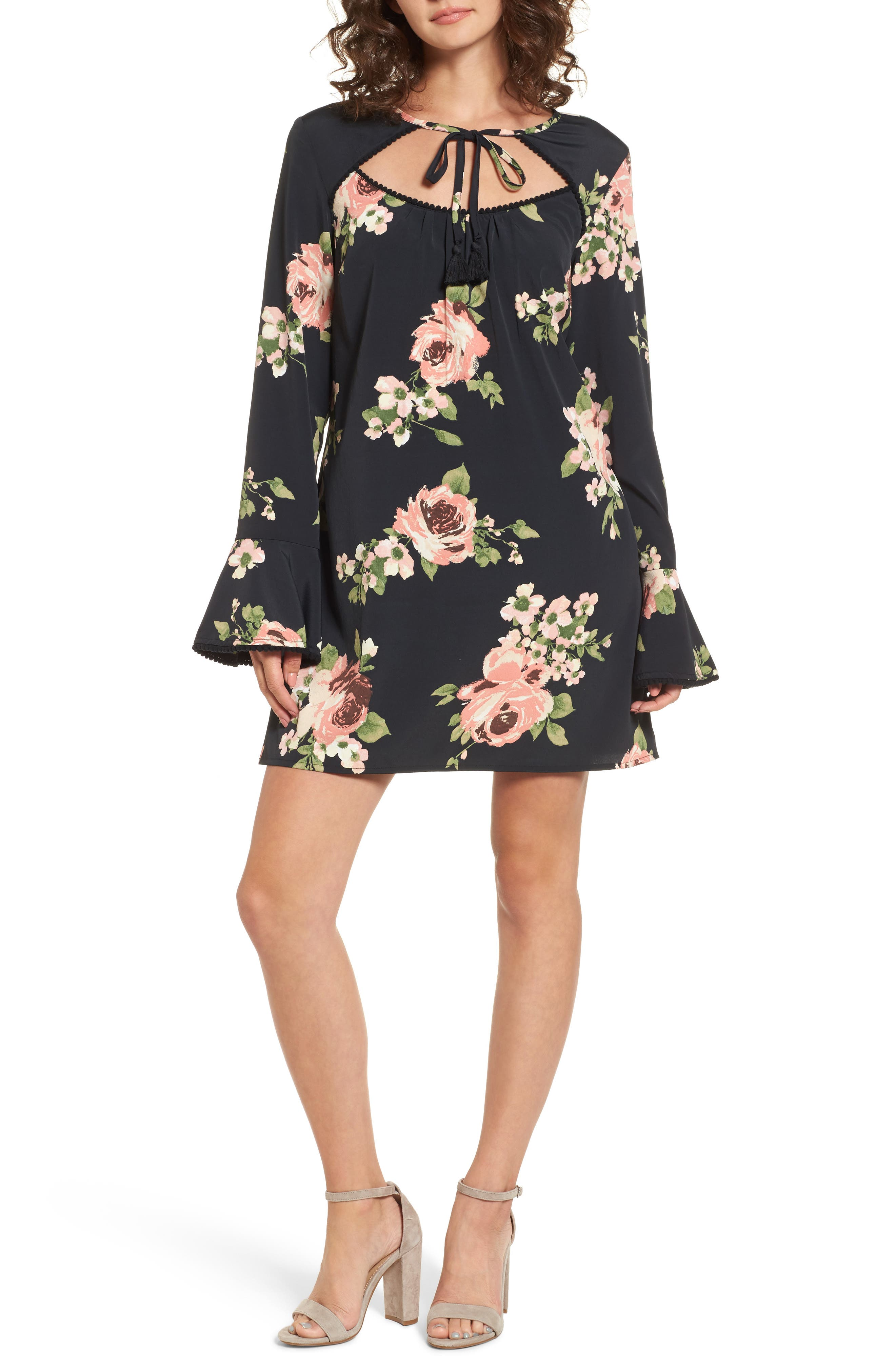 Band of Gypsies Keyhole Floral Dress