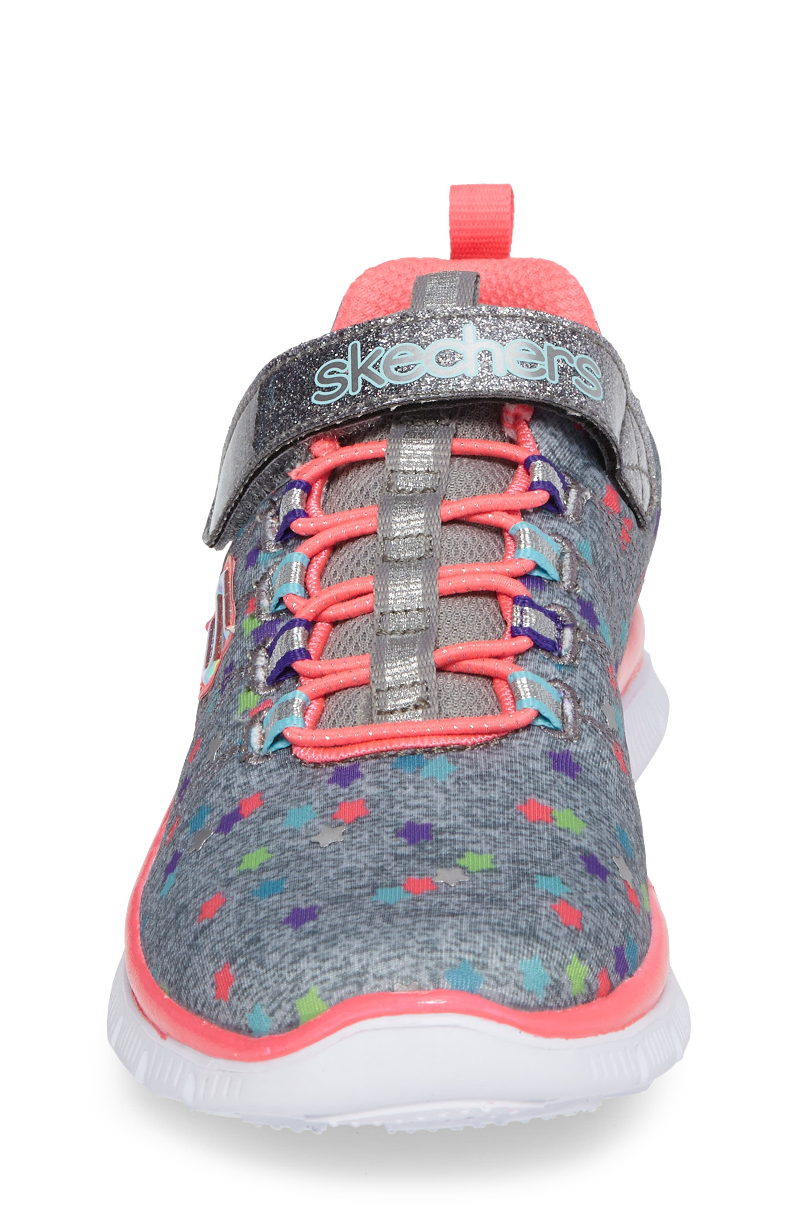 Skech Appeal Star Spirit Sneaker,                             Alternate thumbnail 4, color,                             Grey/ Multi