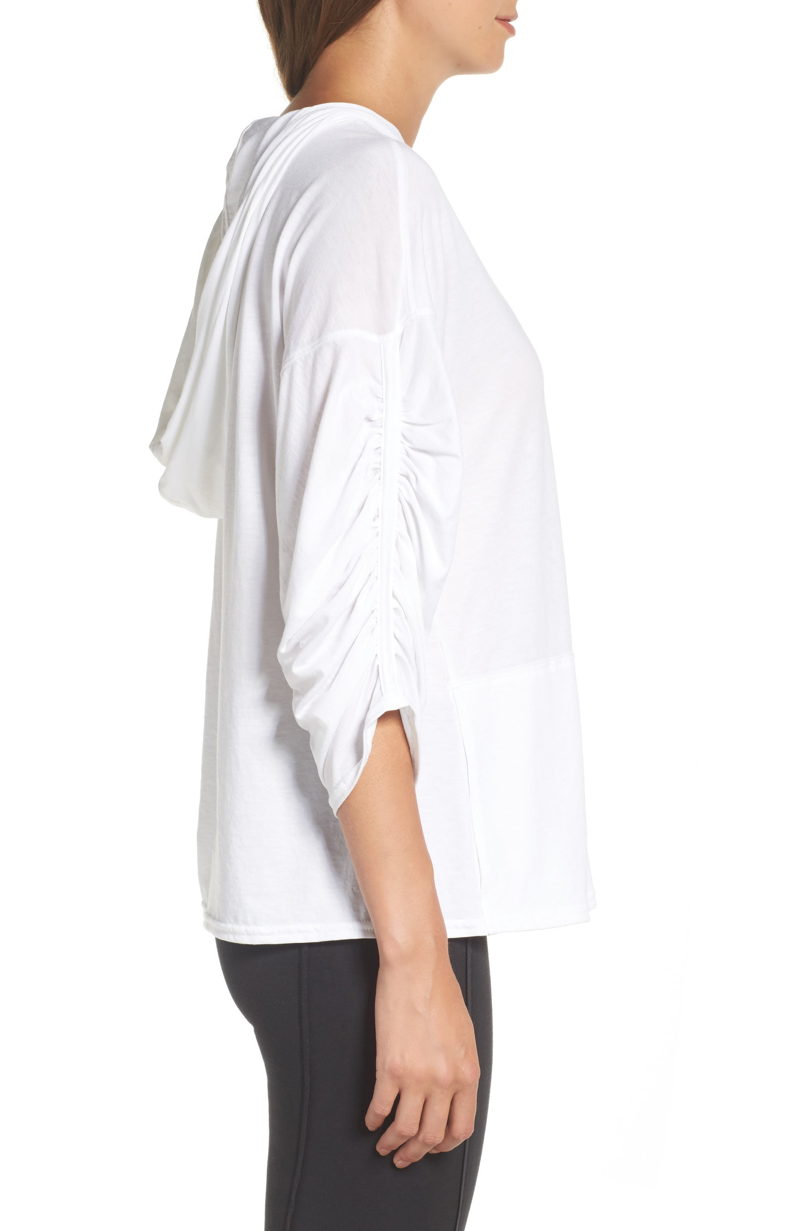 FP Movement Horizon Hooded Tee,                             Alternate thumbnail 4, color,                             White