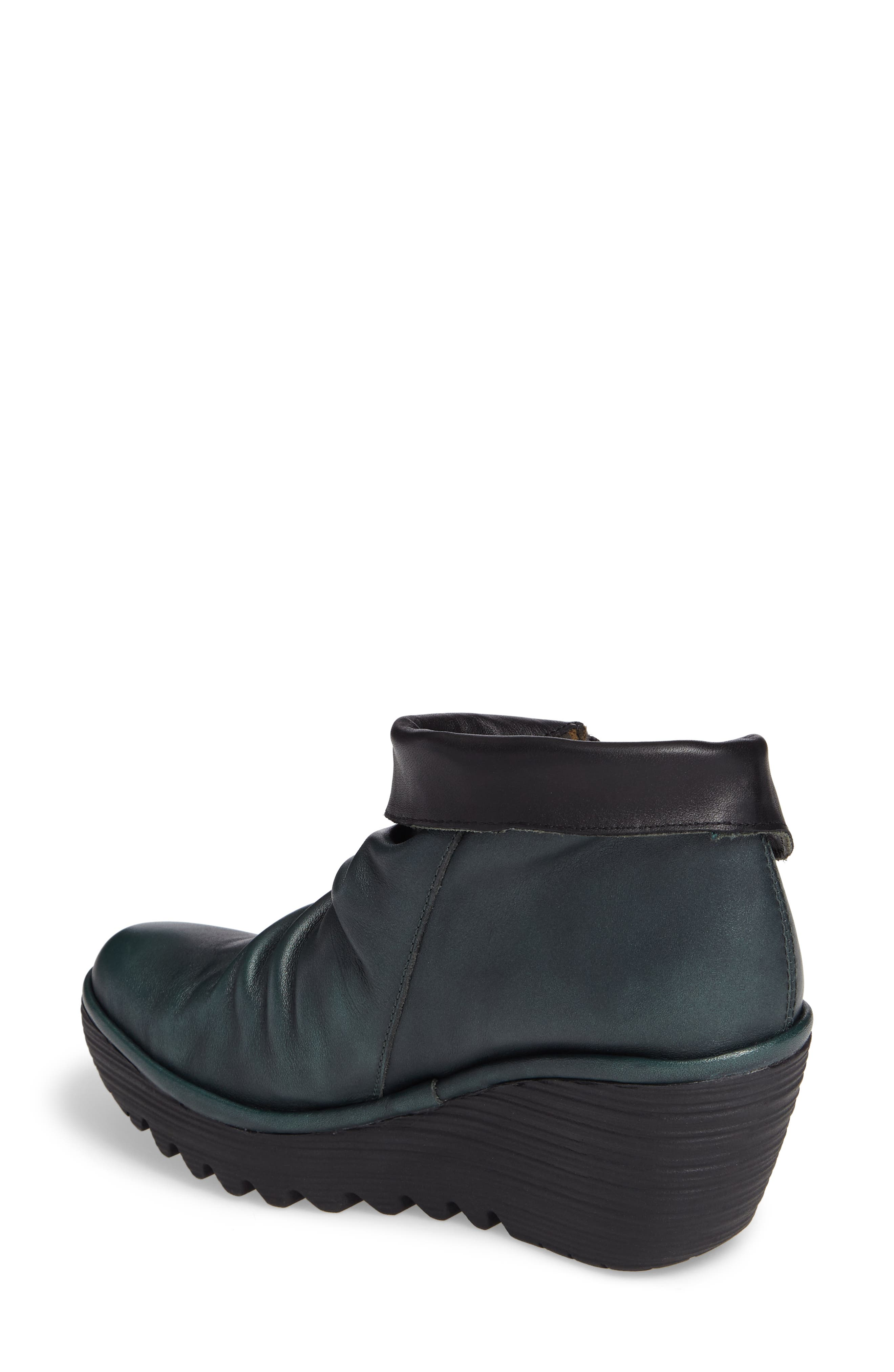Yoxi Wedge Bootie,                             Alternate thumbnail 2, color,                             Seaweed Leather