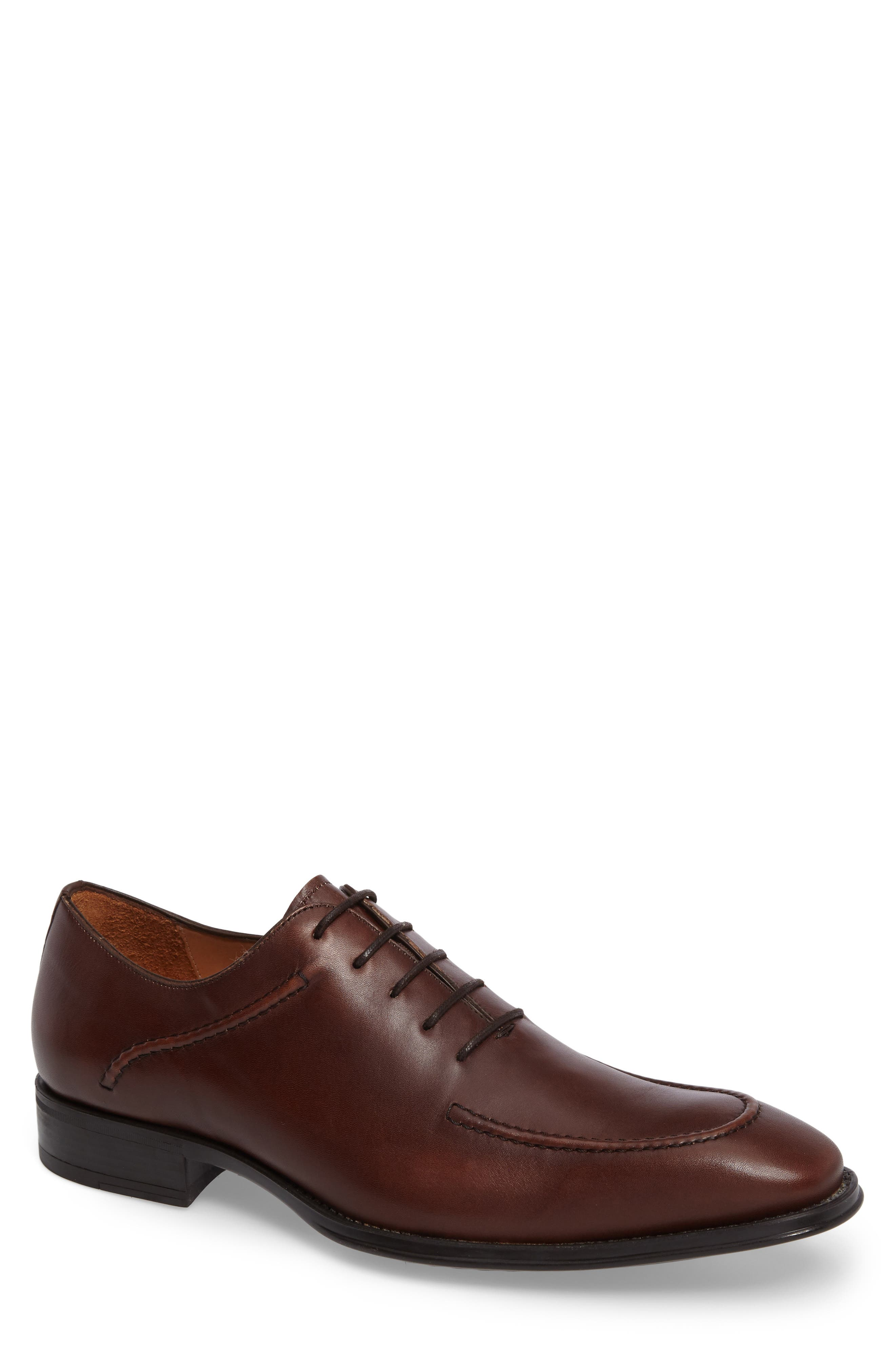 Velez Moc Toe Oxford,                         Main,                         color, Brown Leather