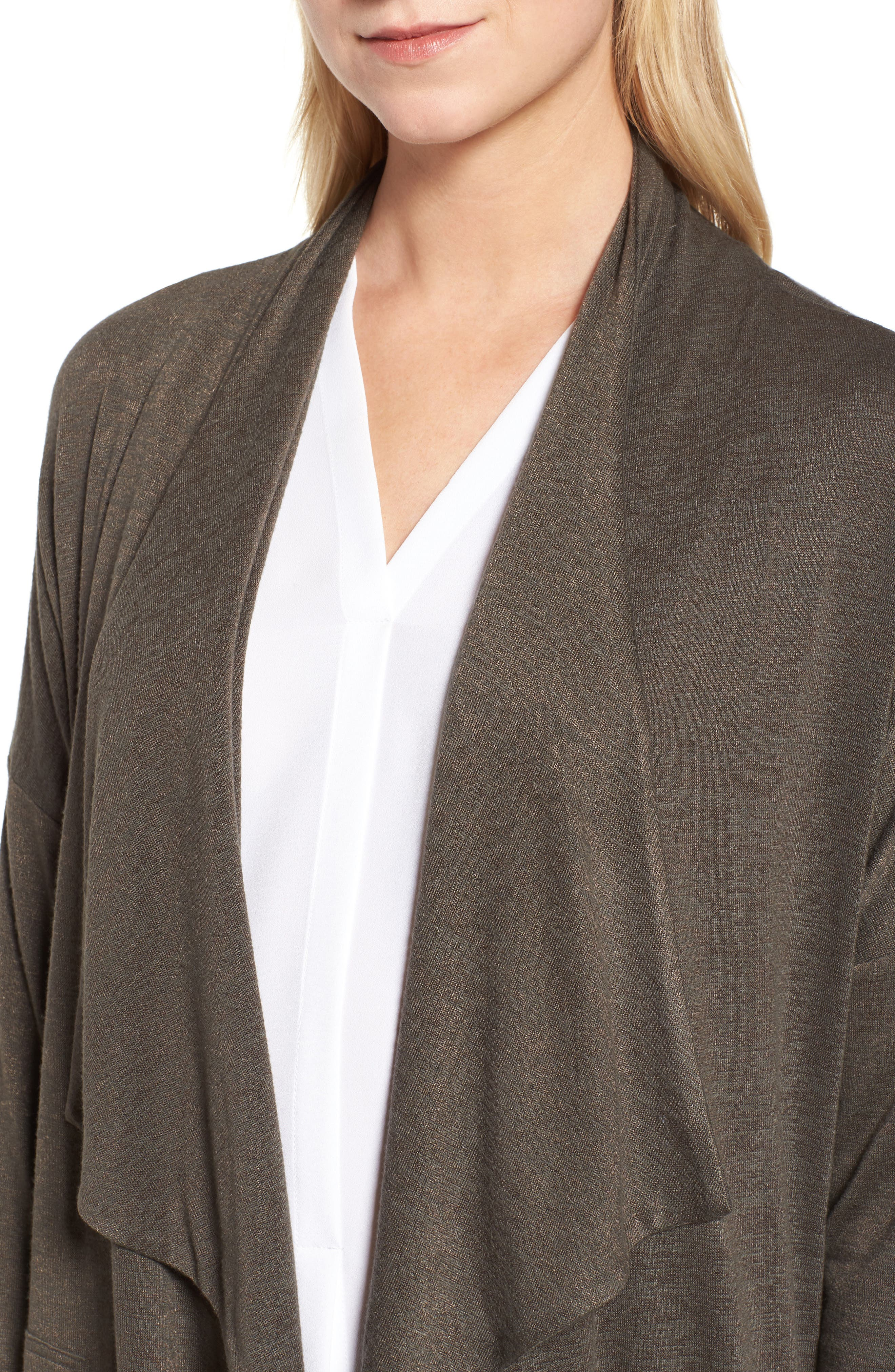 Every Occasion Drape Front Jacket,                             Alternate thumbnail 4, color,                             Terrene