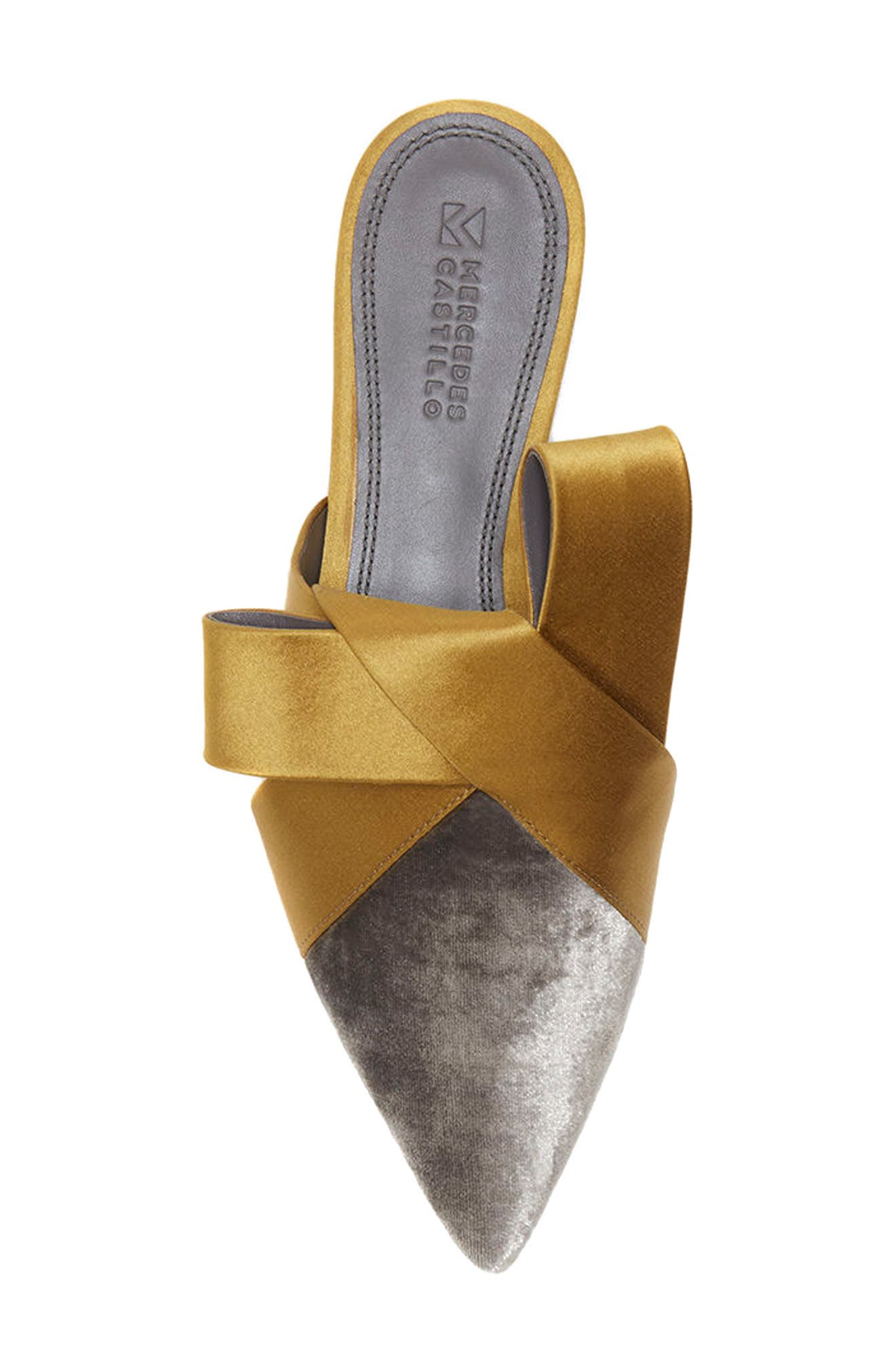 Cresida Pointy Toe Mule,                             Alternate thumbnail 4, color,                             Lead/ Mustard
