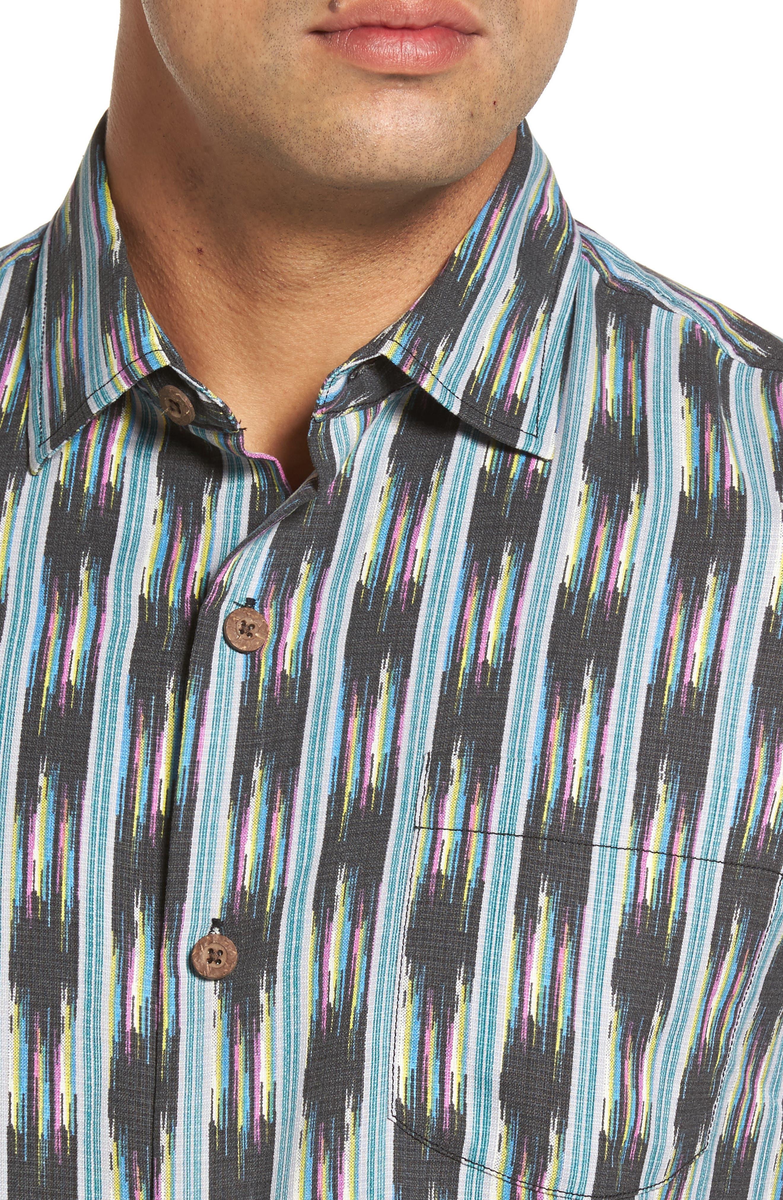 Alternate Image 4  - Tommy Bahama Ikat on a Hot Tin Roof Standard Fit Silk Blend Camp Shirt
