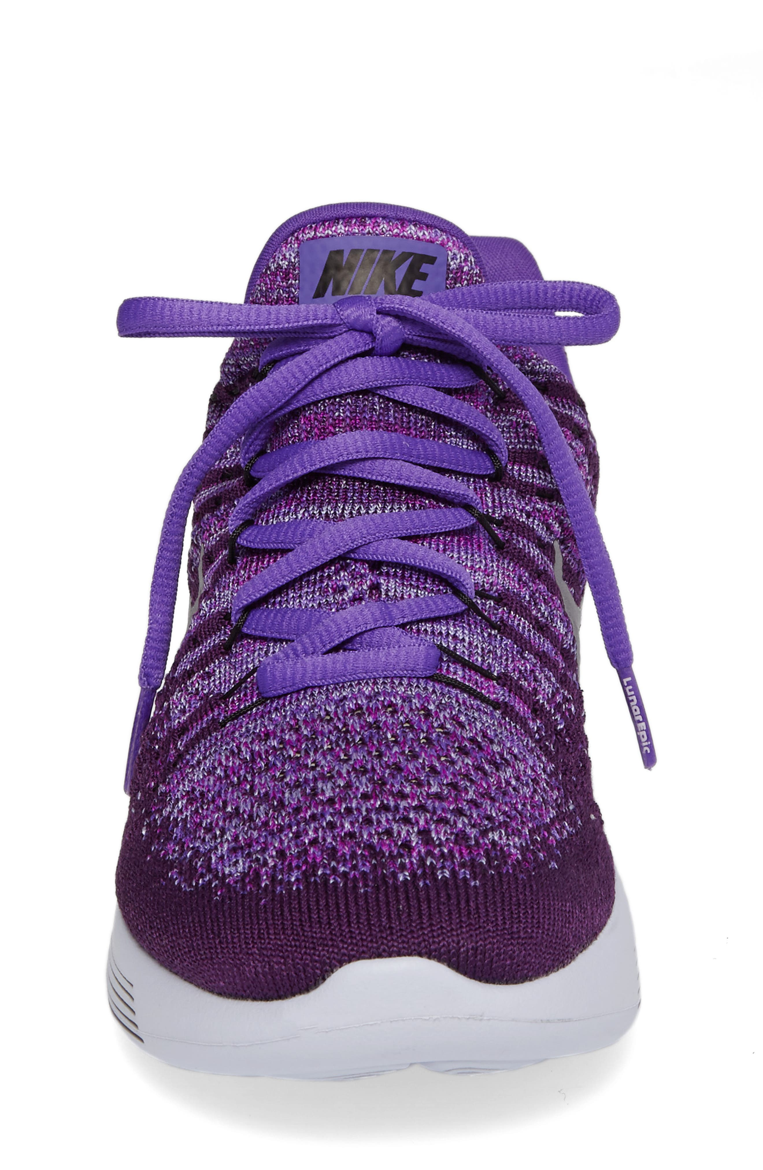 Alternate Image 4  - Nike Flyknit LunarEpic Sneaker (Big Kid)