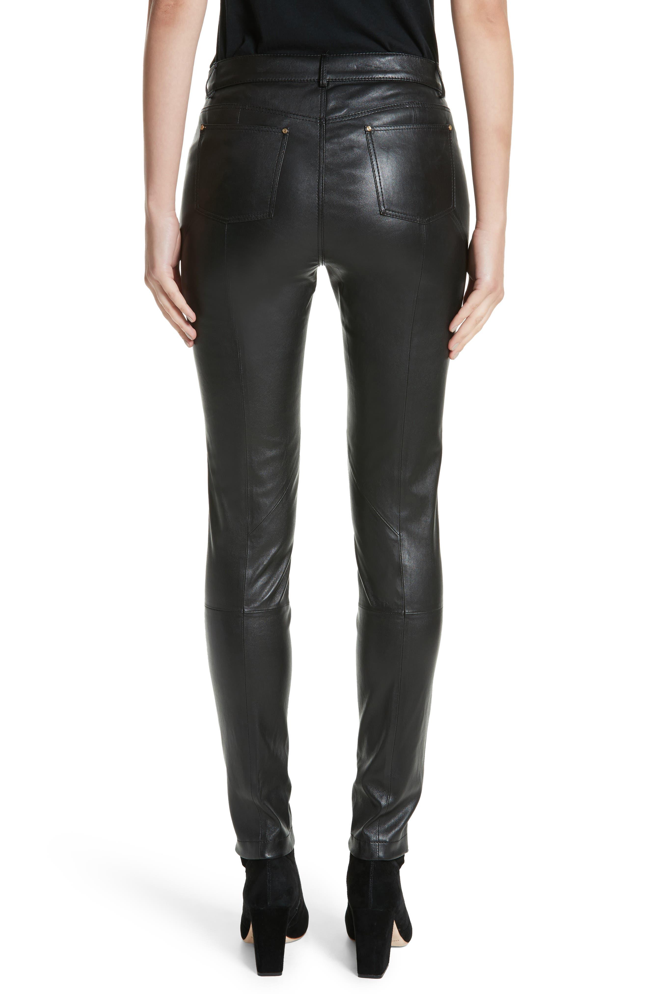 Alternate Image 2  - Lafayette 148 New York Mercer Nappa Leather Pants