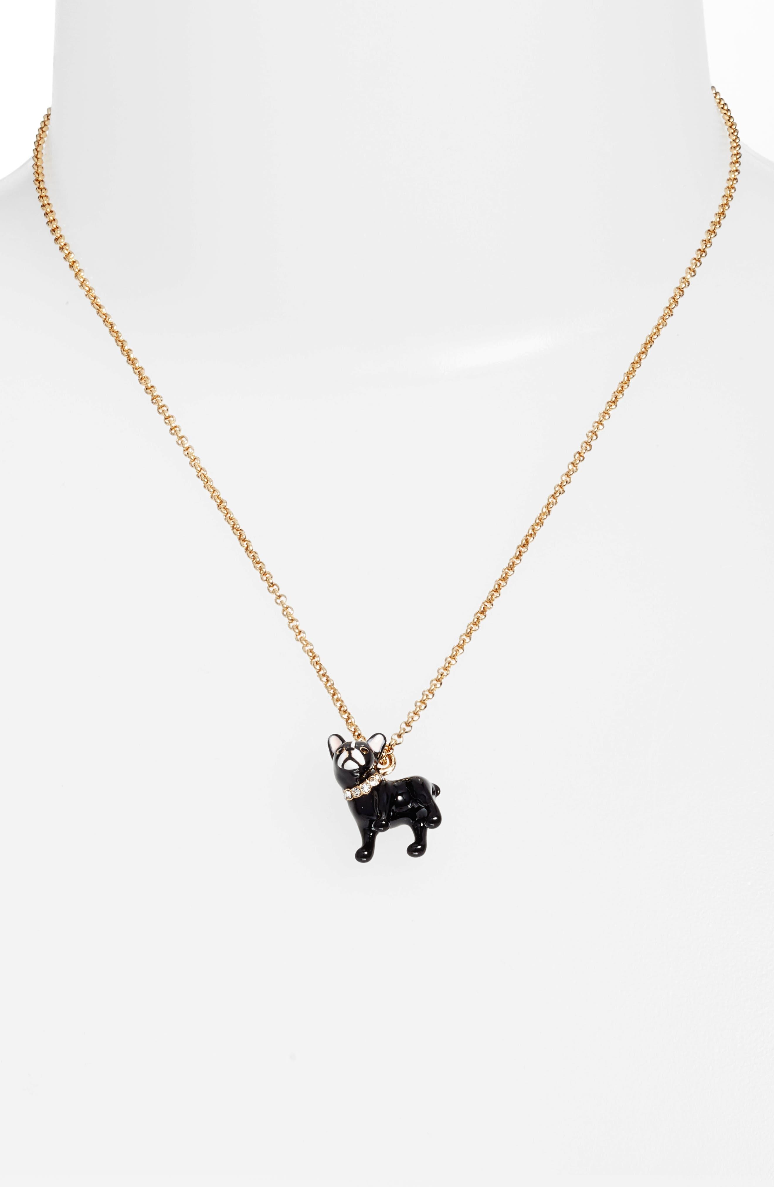 ma cherie antoine dog pendant necklace,                             Main thumbnail 1, color,                             Gold Multi