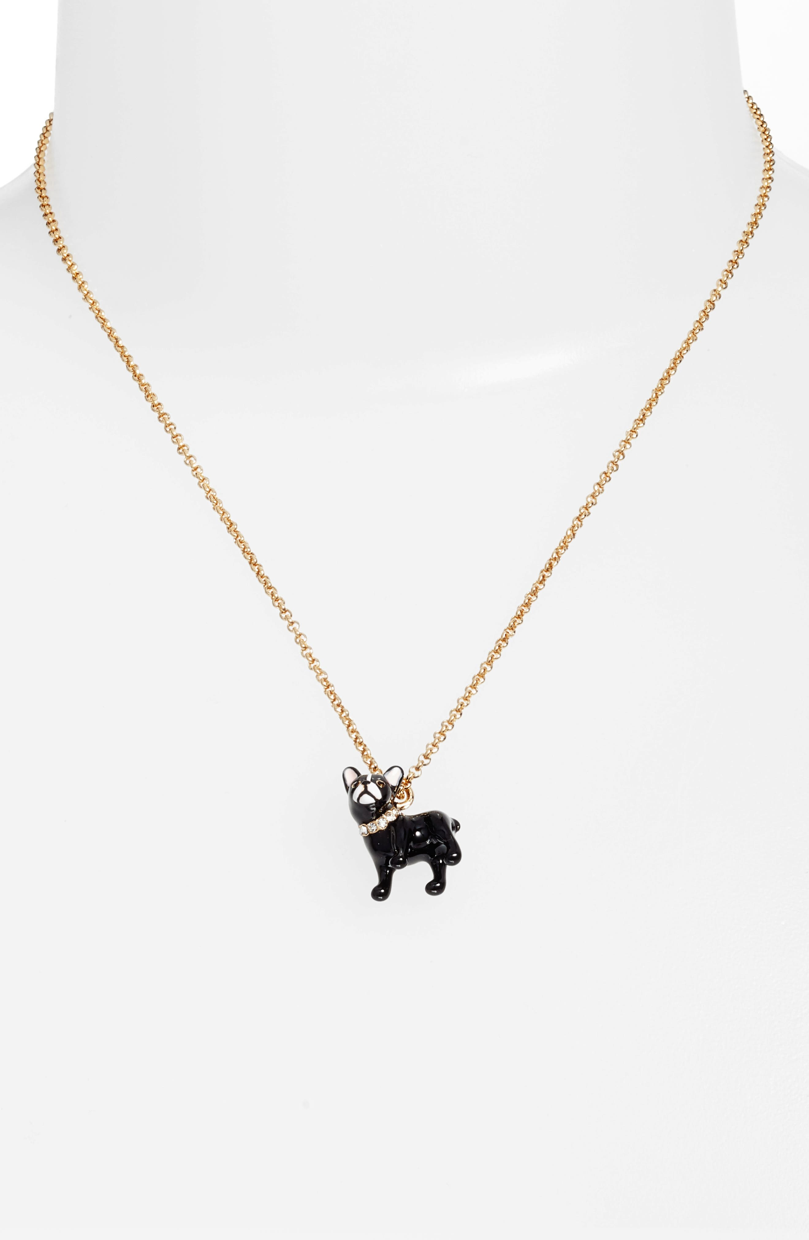 ma cherie antoine dog pendant necklace,                         Main,                         color, Gold Multi