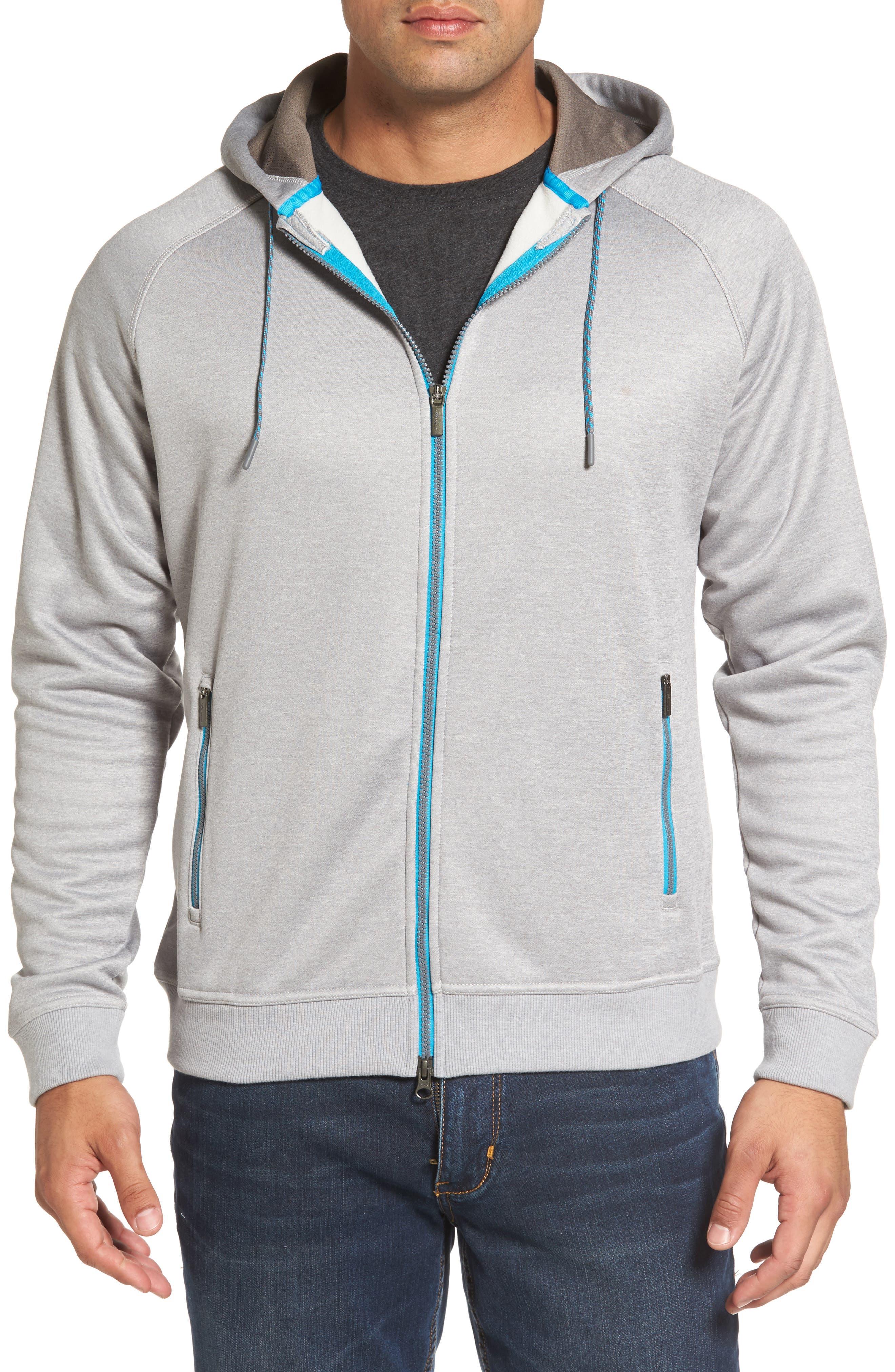 Placid Zip Hoodie,                         Main,                         color, British Grey