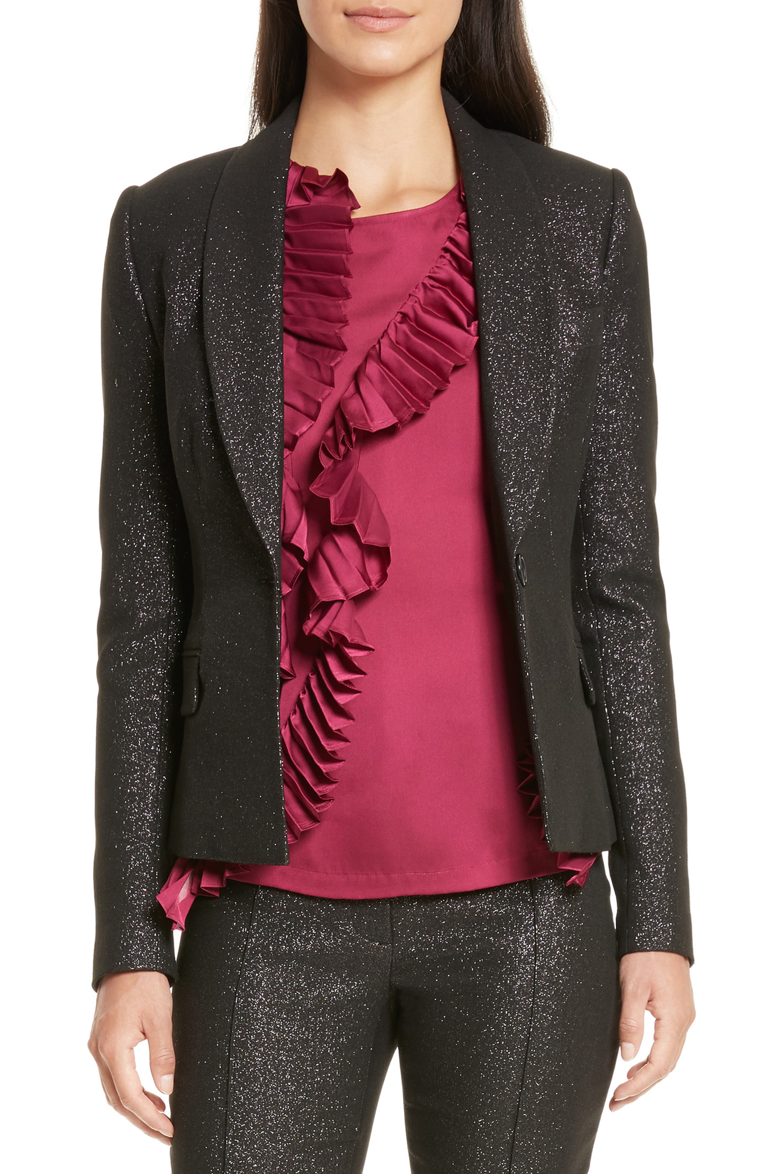 Alternate Image 1 Selected - Tracy Reese Metallic Shawl Blazer