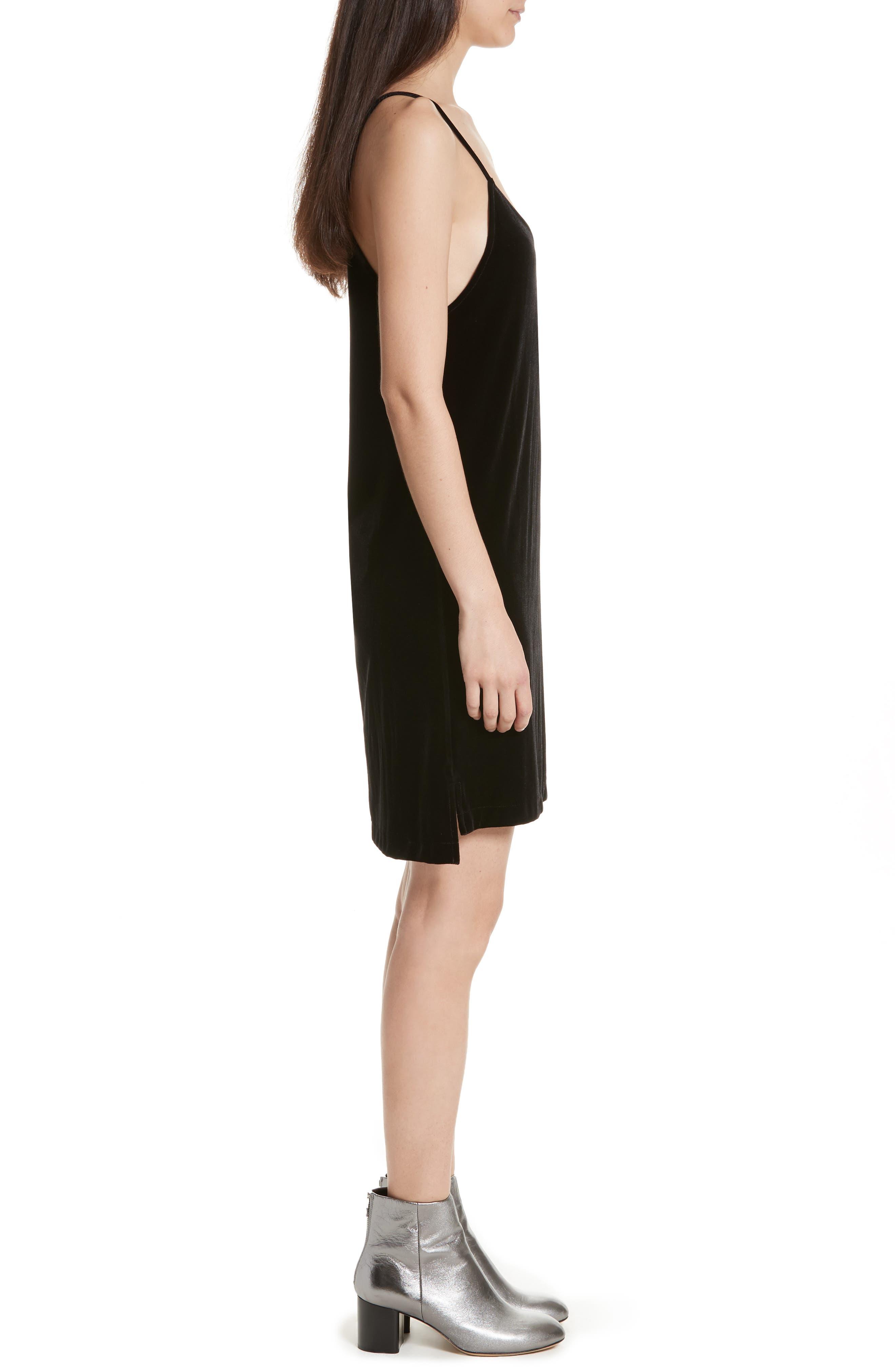 Alternate Image 3  - rag & bone/JEAN Amber Velvet Slipdress