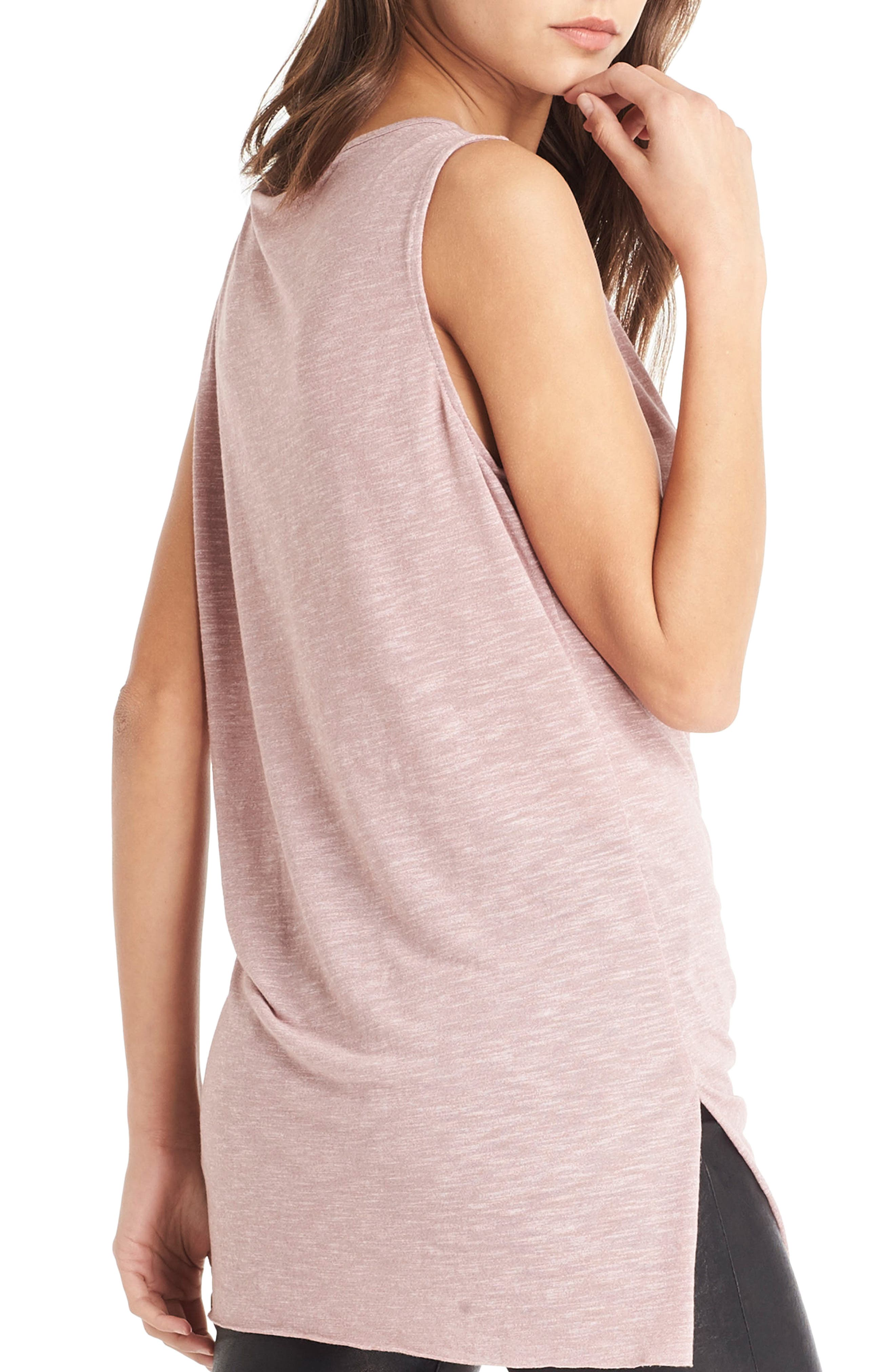 Alternate Image 2  - Michael Stars Pleat Detail Tank