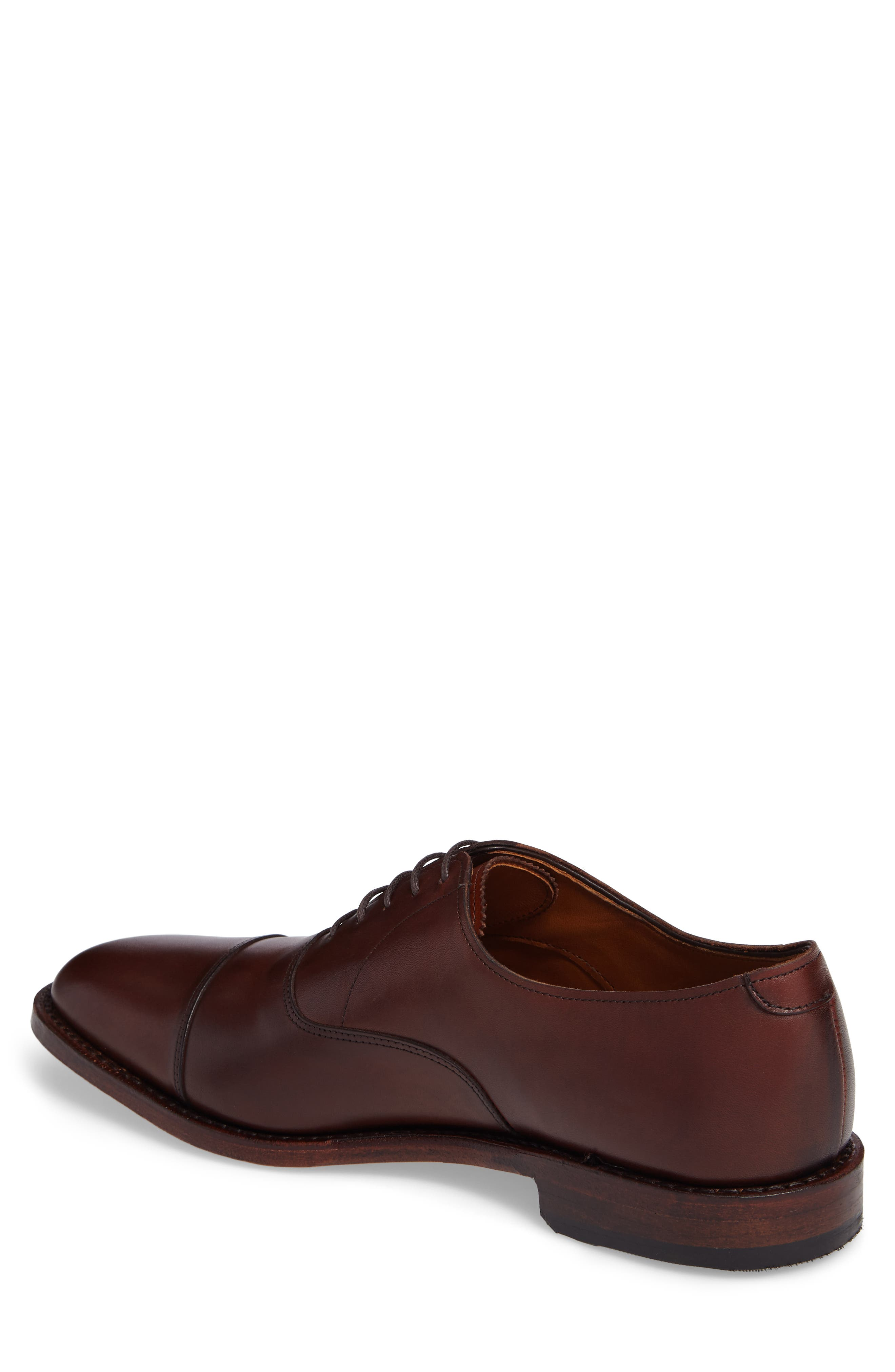 'Exchange Place' Cap Toe Oxford,                             Alternate thumbnail 2, color,                             Dark Chili Leather