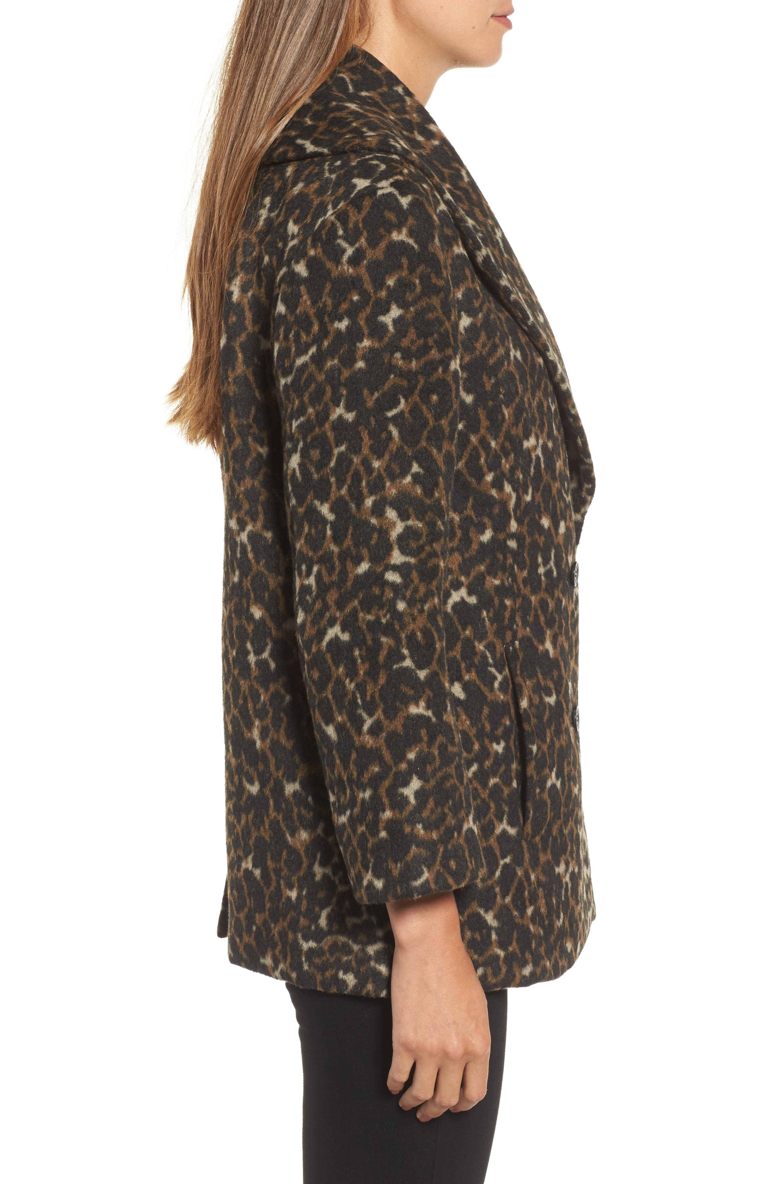 Alternate Image 3  - Hinge Animal Print Coat
