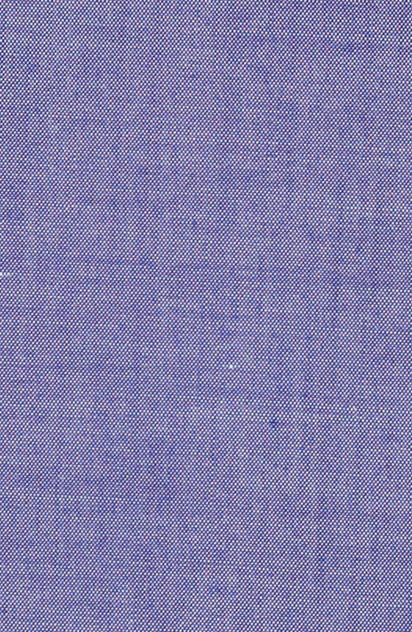 Chambray Pocket Square,                             Alternate thumbnail 3, color,                             Royal