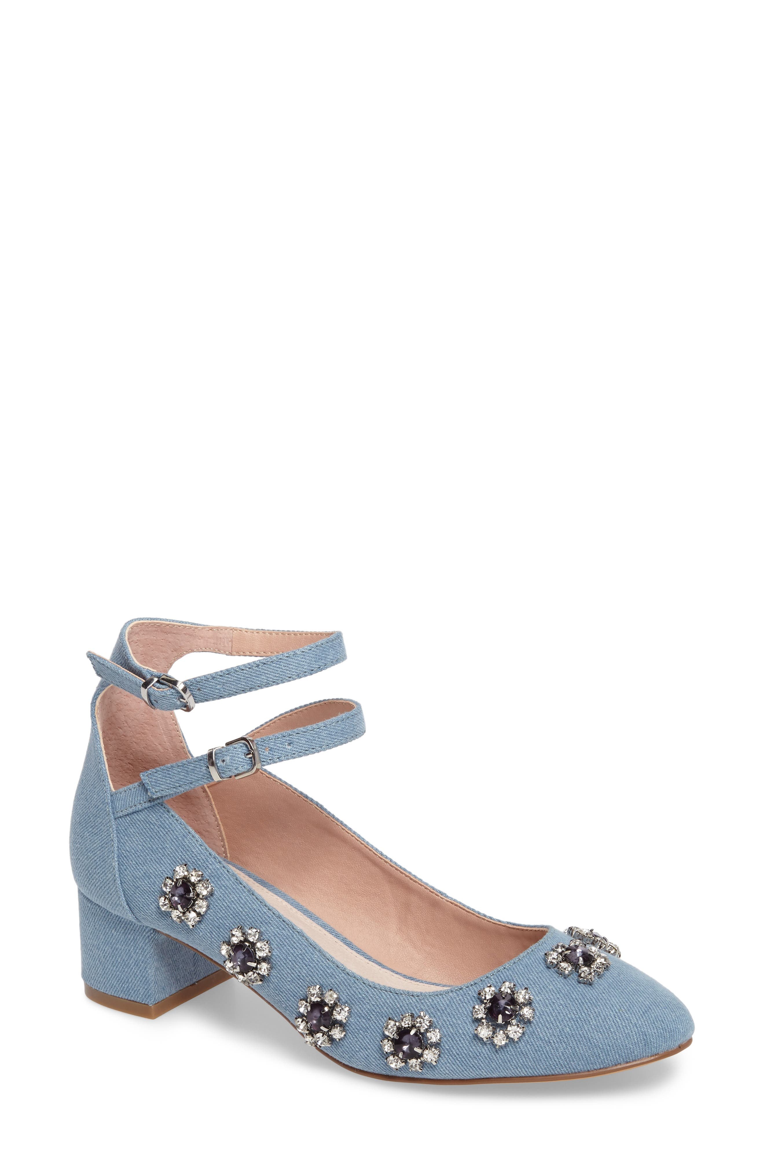 Topshop Jaida Crystal Embellished Pump (Women)