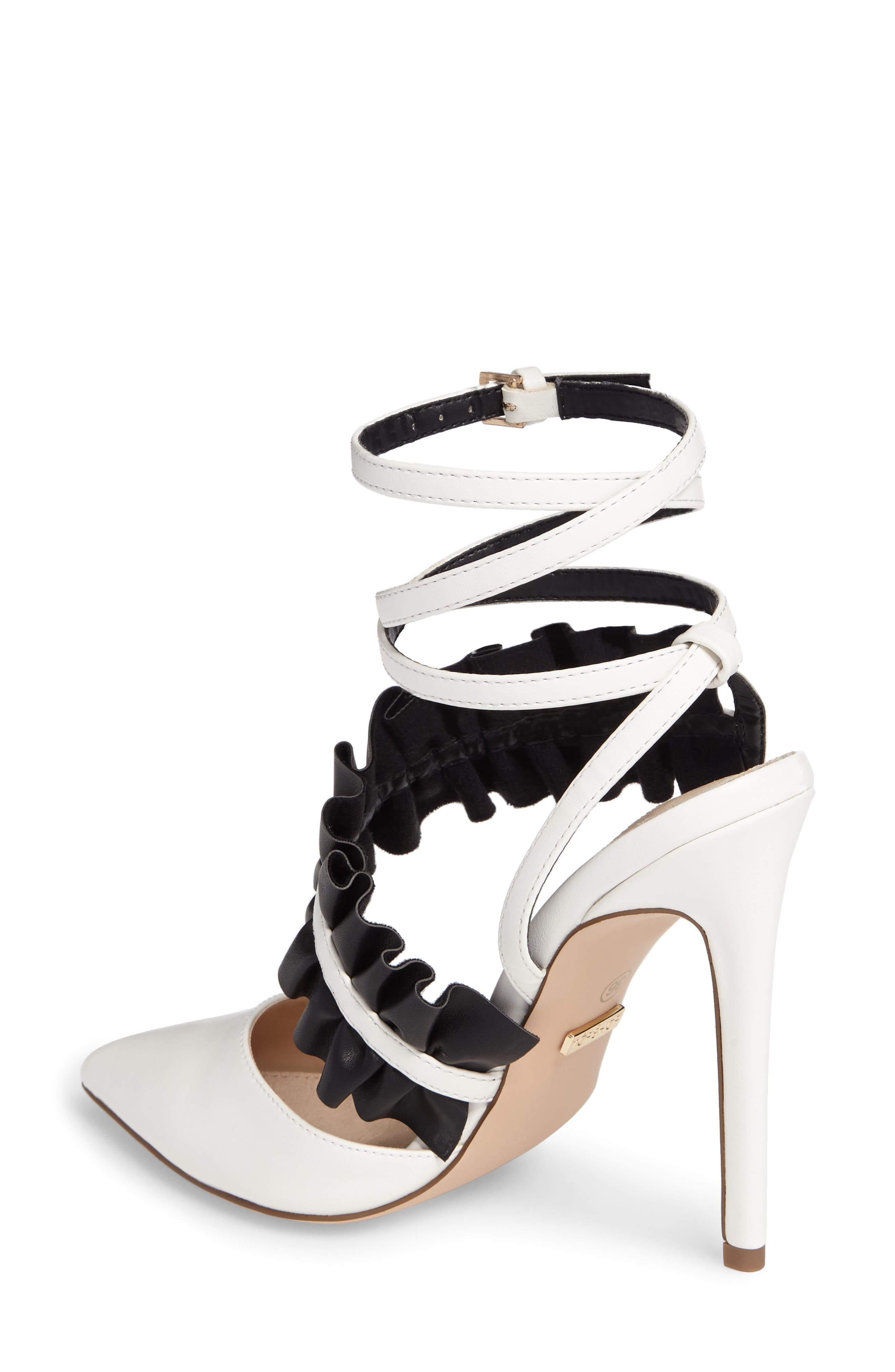 Grill Frill Ankle Strap Pump,                             Alternate thumbnail 3, color,                             White Multi