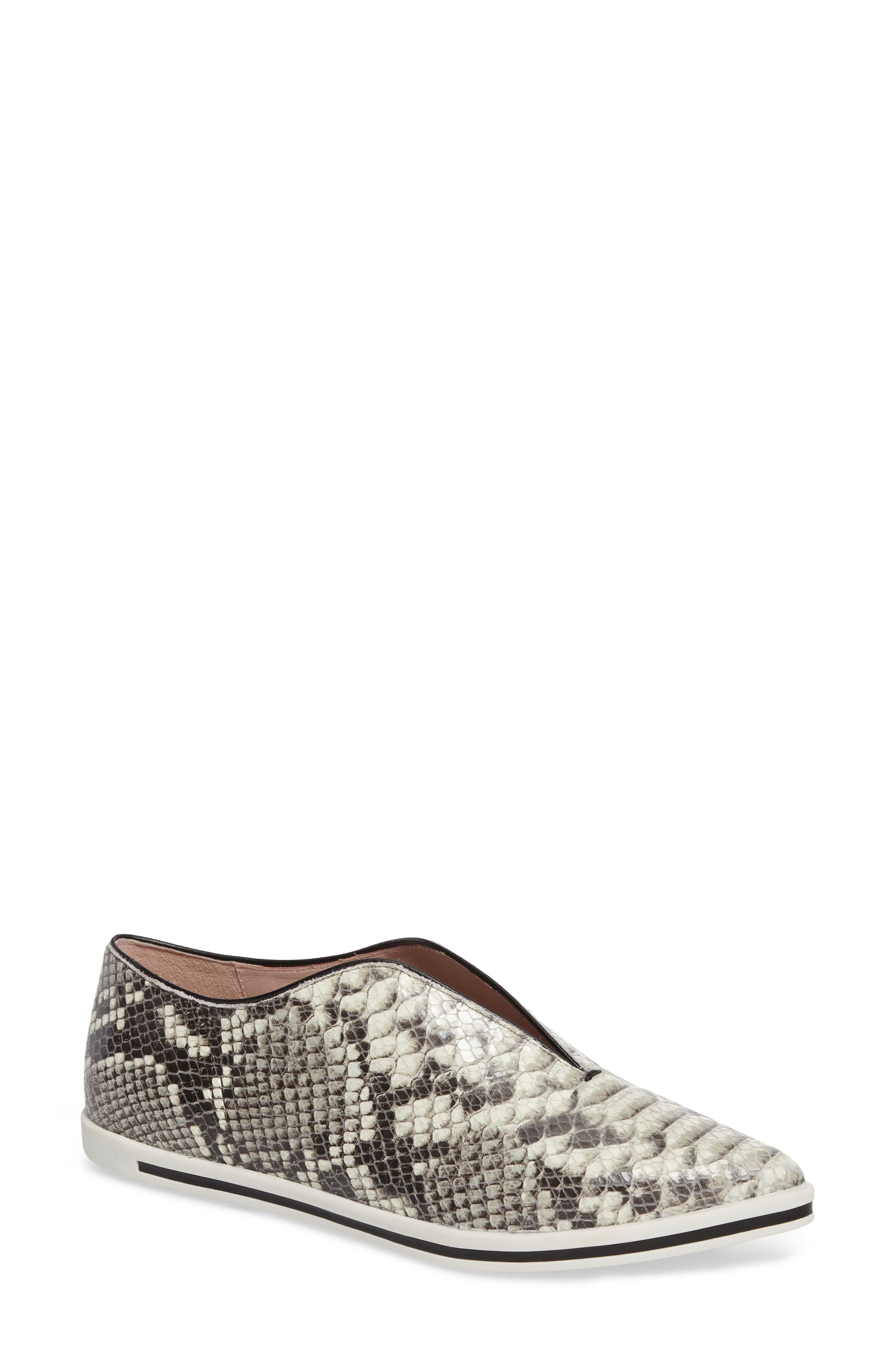 Tisha Slip-On Sneaker,                         Main,                         color, Natural Embossed Leather