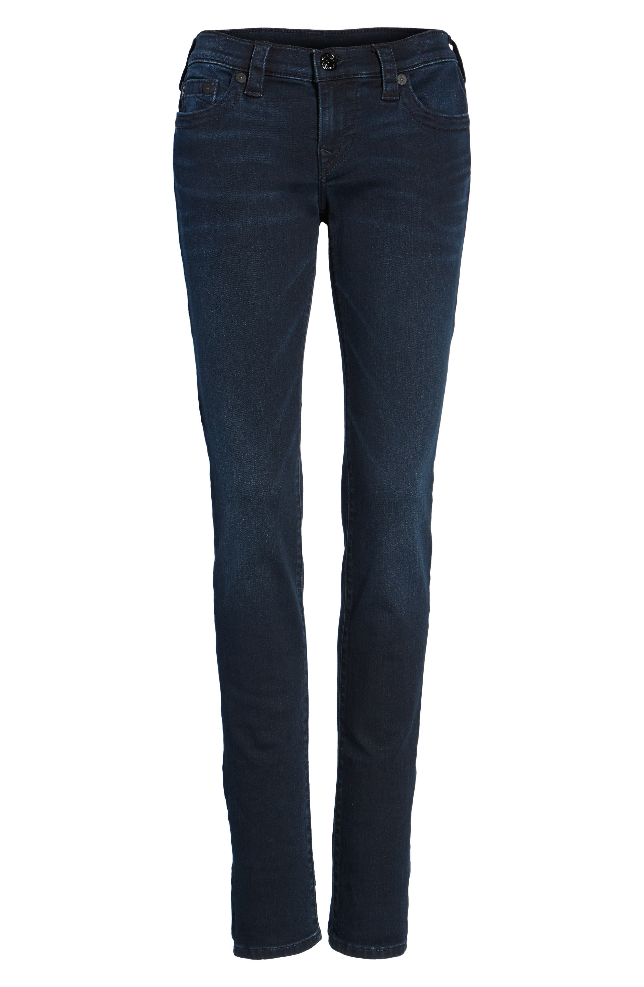 Alternate Image 6  - True Religion Brand Jeans Stella Low Rise Skinny Jeans (Mystic Blues)
