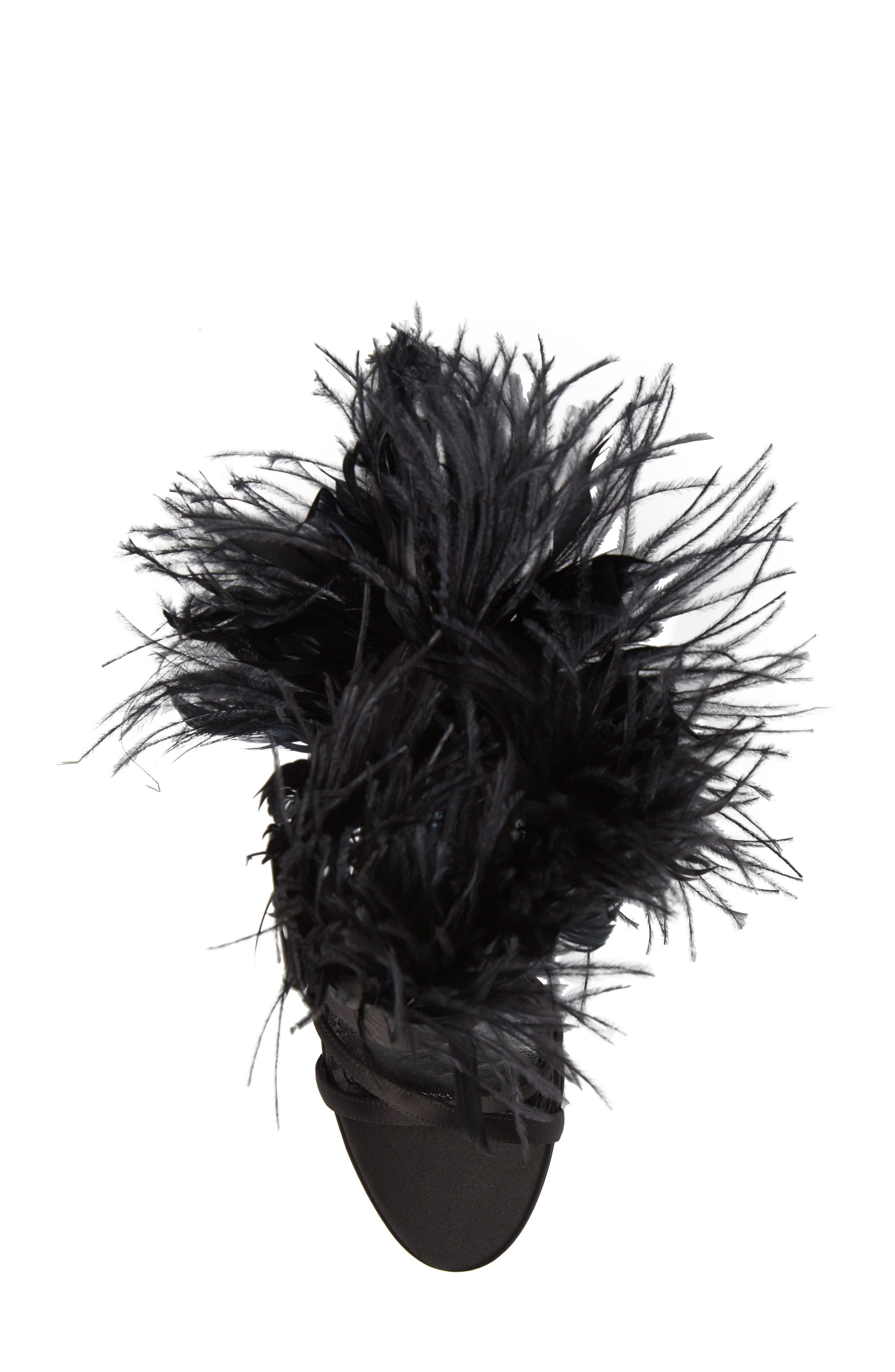Alternate Image 5  - Prada Feather Block Heel Sandal (Women)