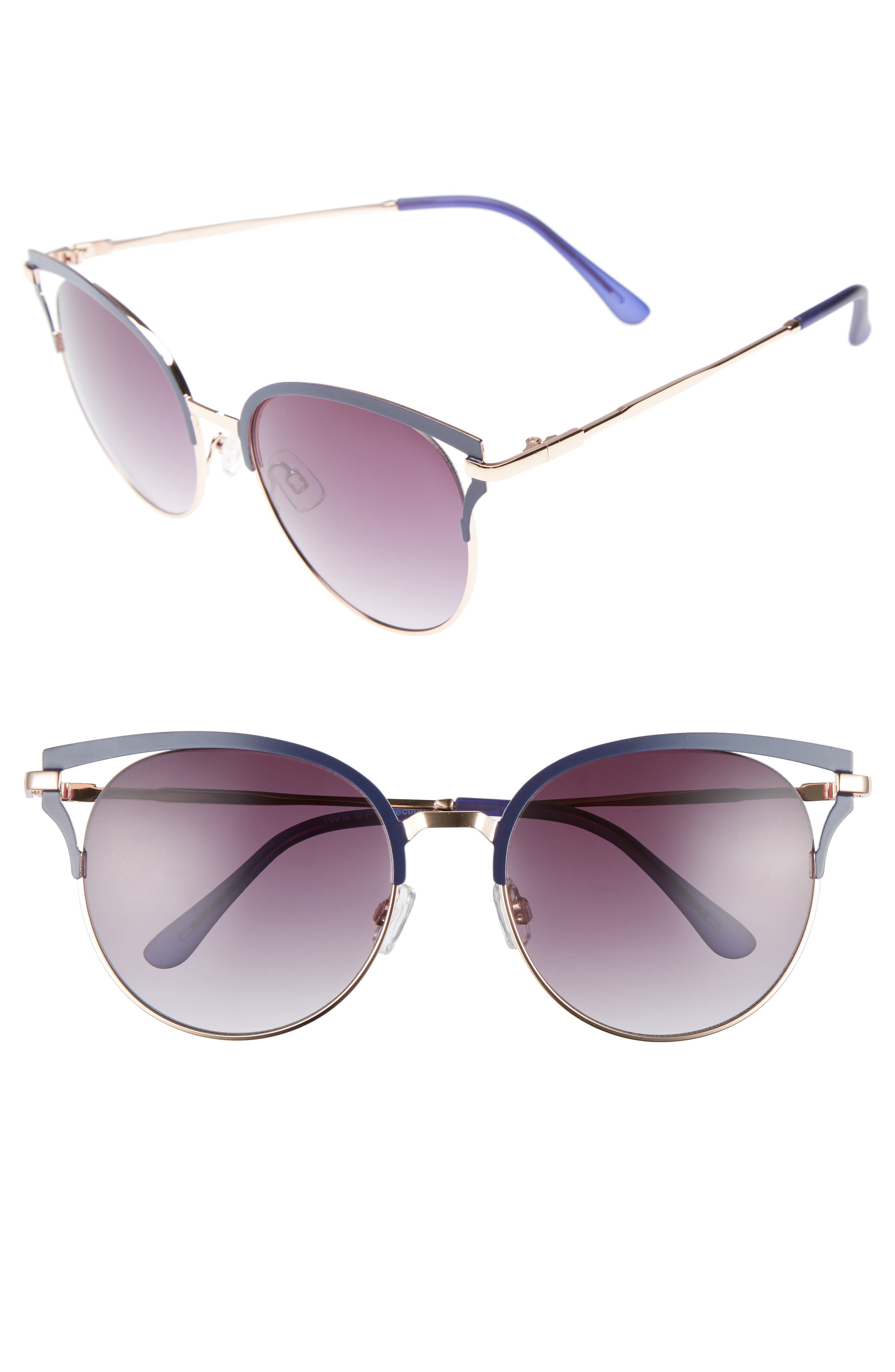 Main Image - BP. 55mm Colored Round Sunglasses